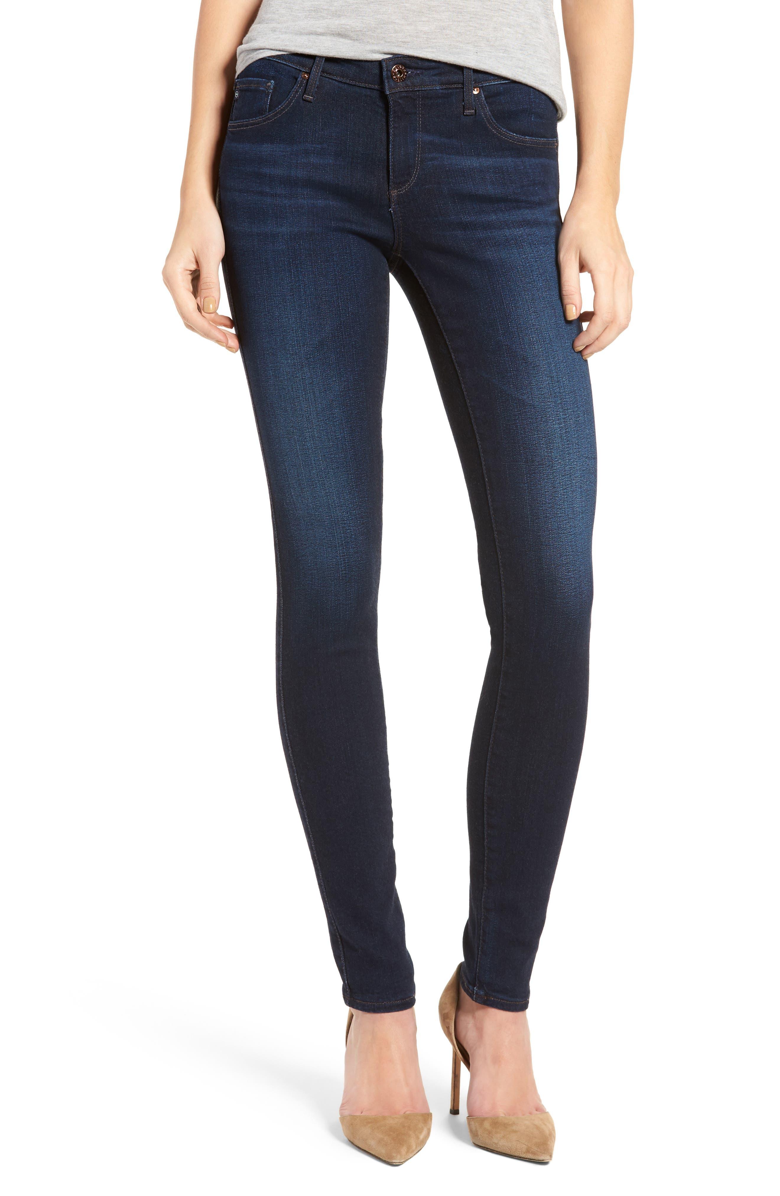 Alternate Image 1 Selected - AG Jeans Super Skinny Stretch Jeans (Jetsetter)