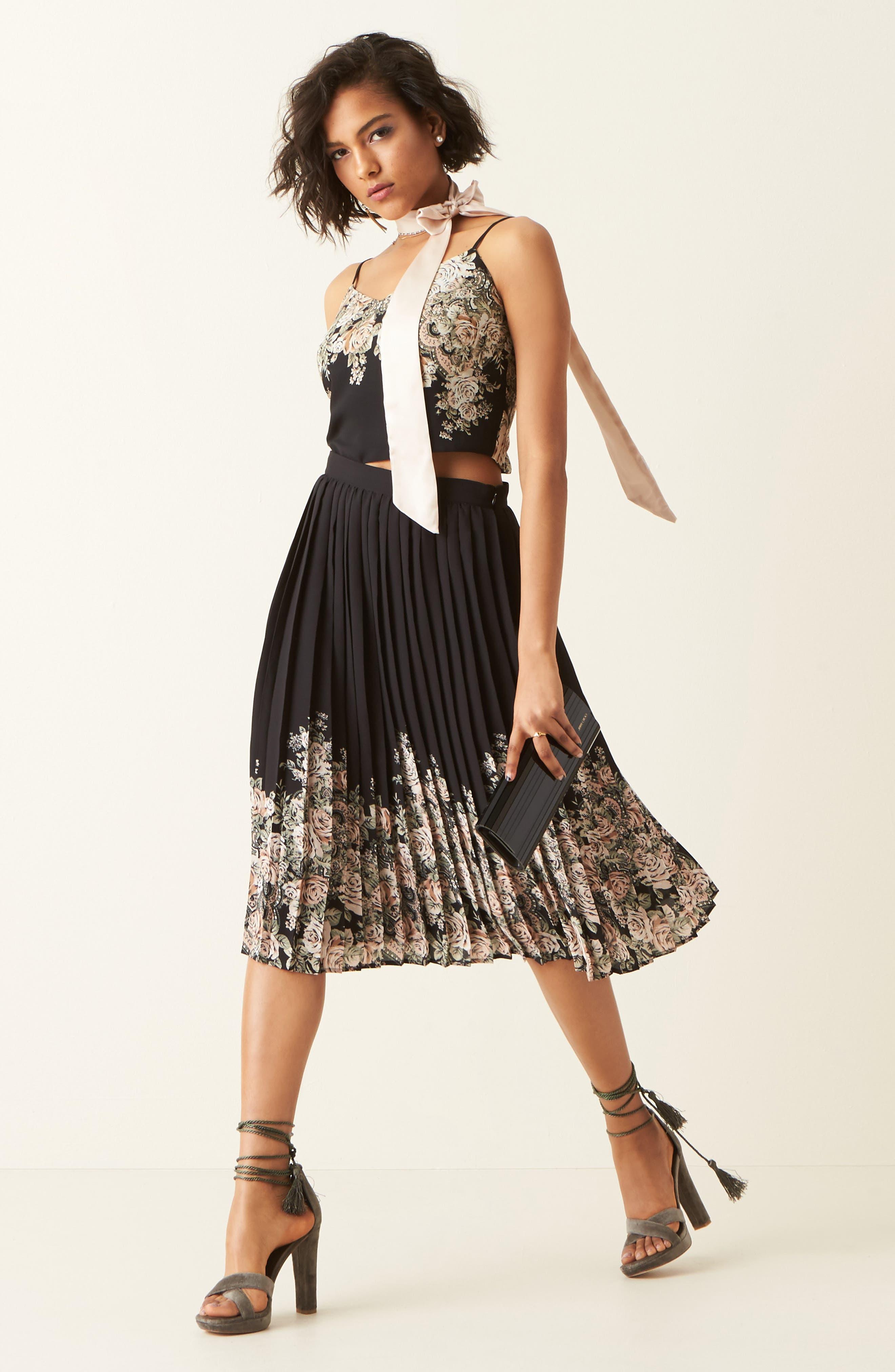 Alternate Image 2  - June & Hudson Pleated Skirt