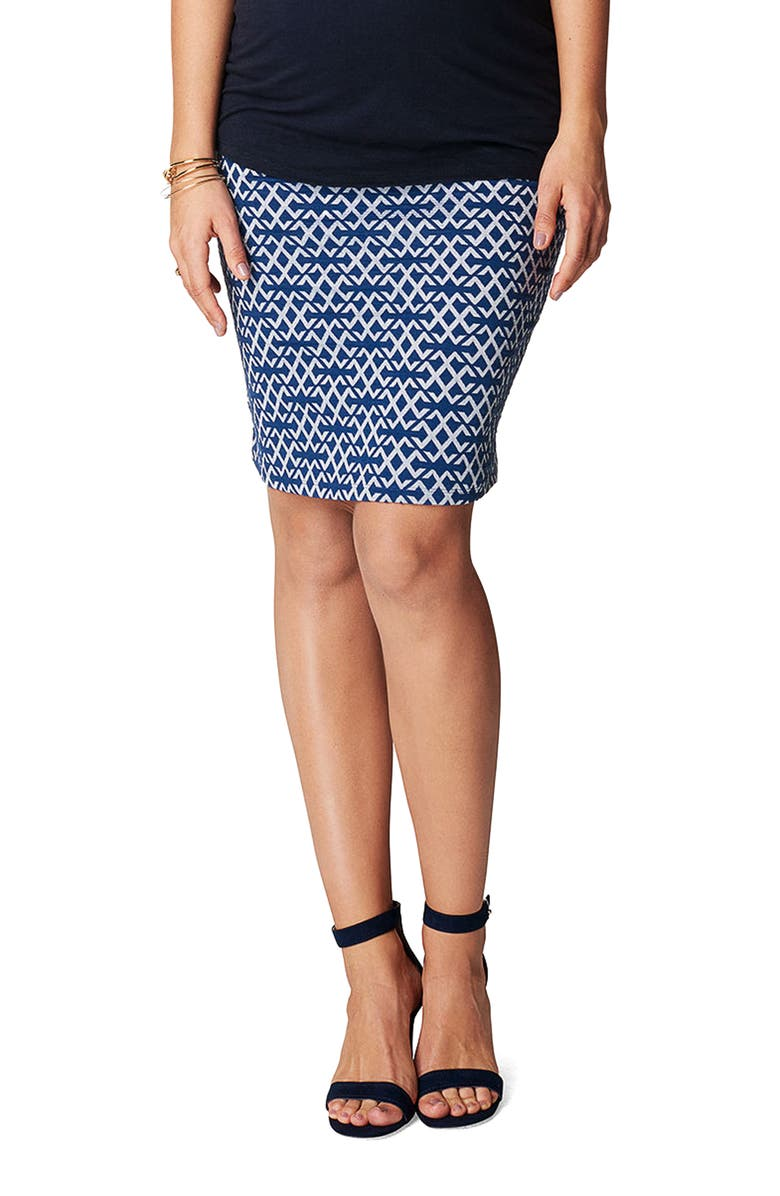 Luna Over the Belly Maternity Skirt