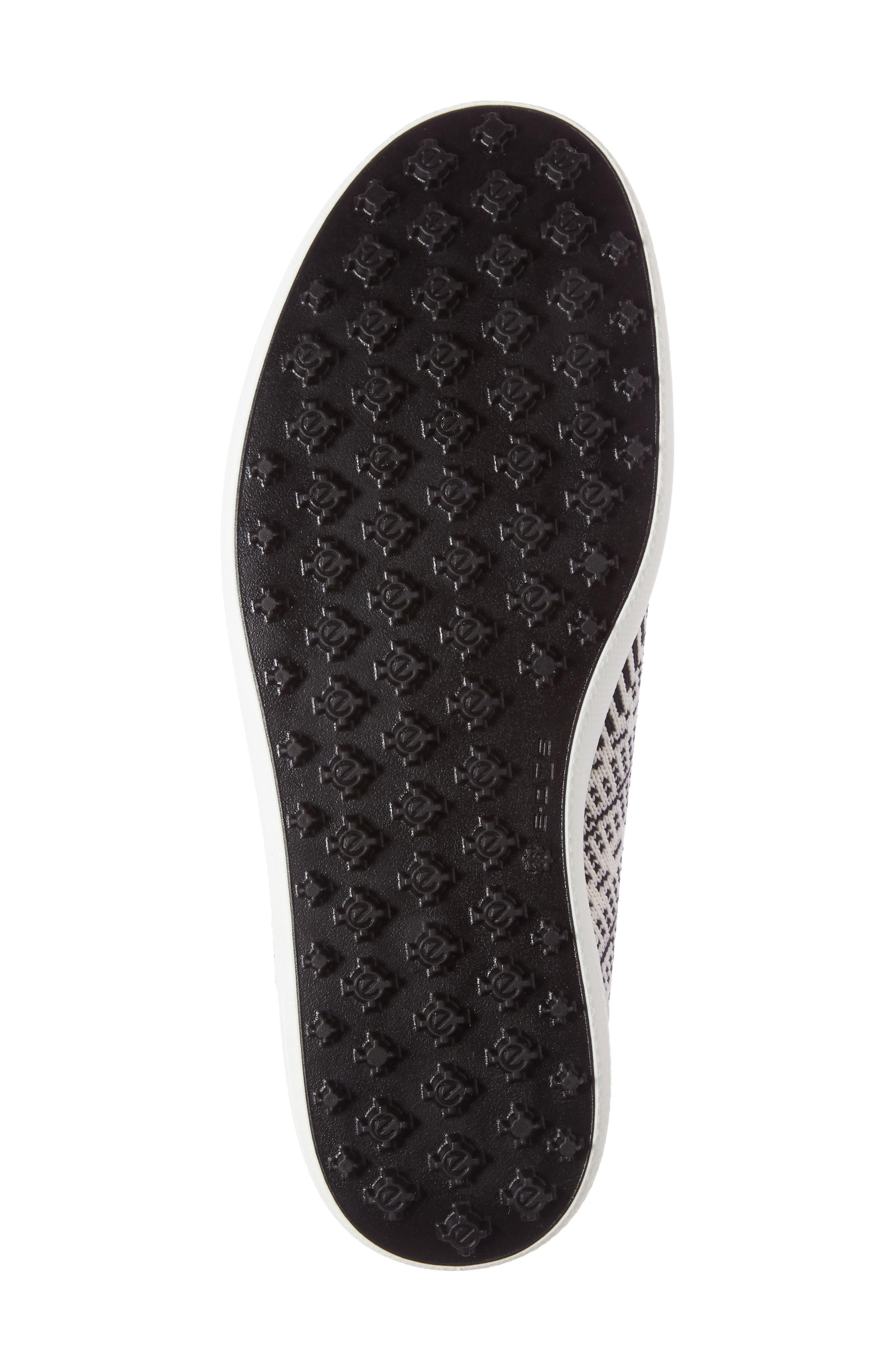 Casual Hybrid Knit Golf Sneaker,                             Alternate thumbnail 4, color,                             White/ Black/ White Leather