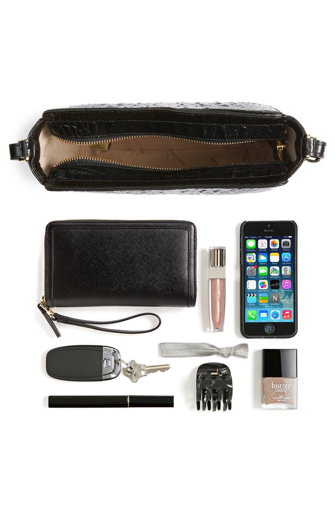 Melbourne Carrie Leather Crossbody Bag,                             Alternate thumbnail 3, color,                             Black