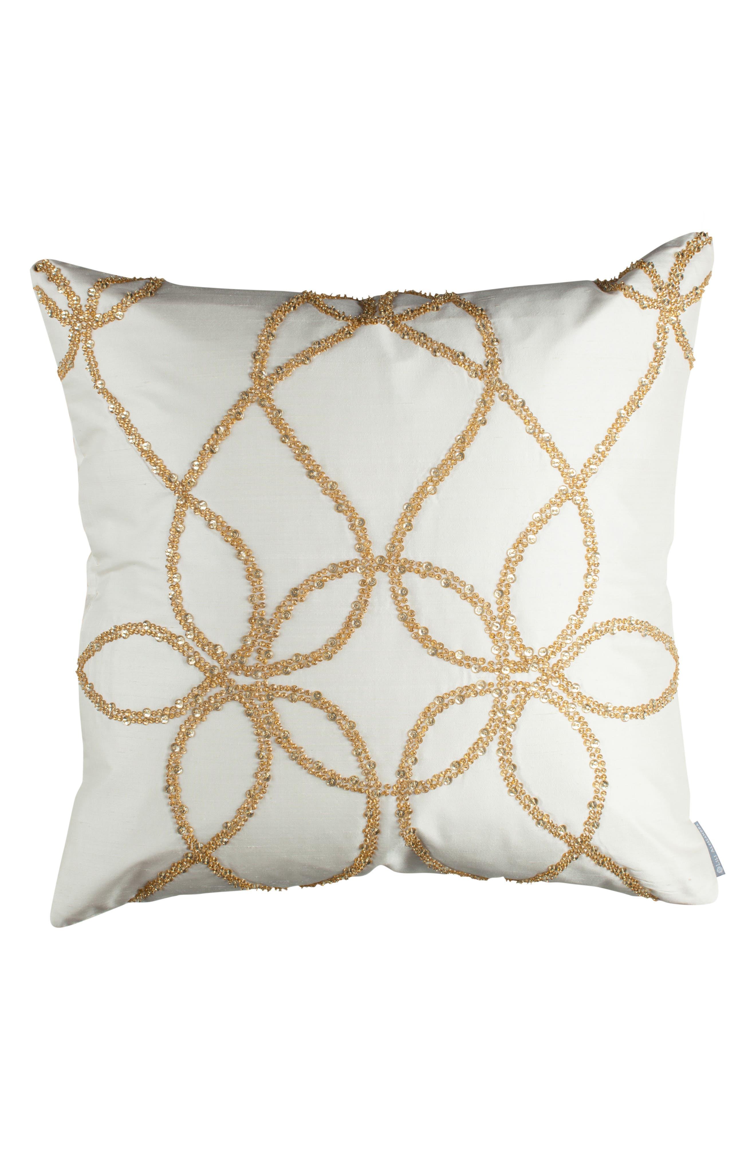 Main Image - Lili Alessandra Silk Accent Pillow