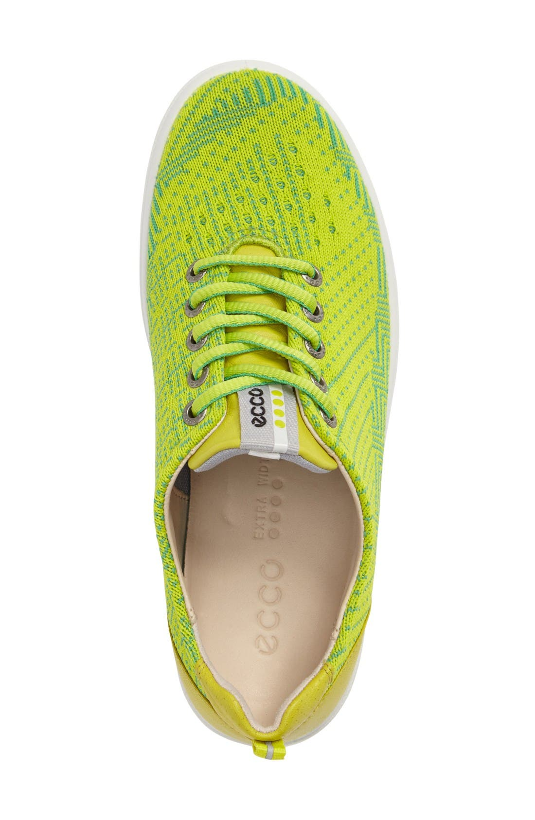 Casual Hybrid Knit Golf Sneaker,                             Alternate thumbnail 3, color,                             Lime Punch/ Neon Leather