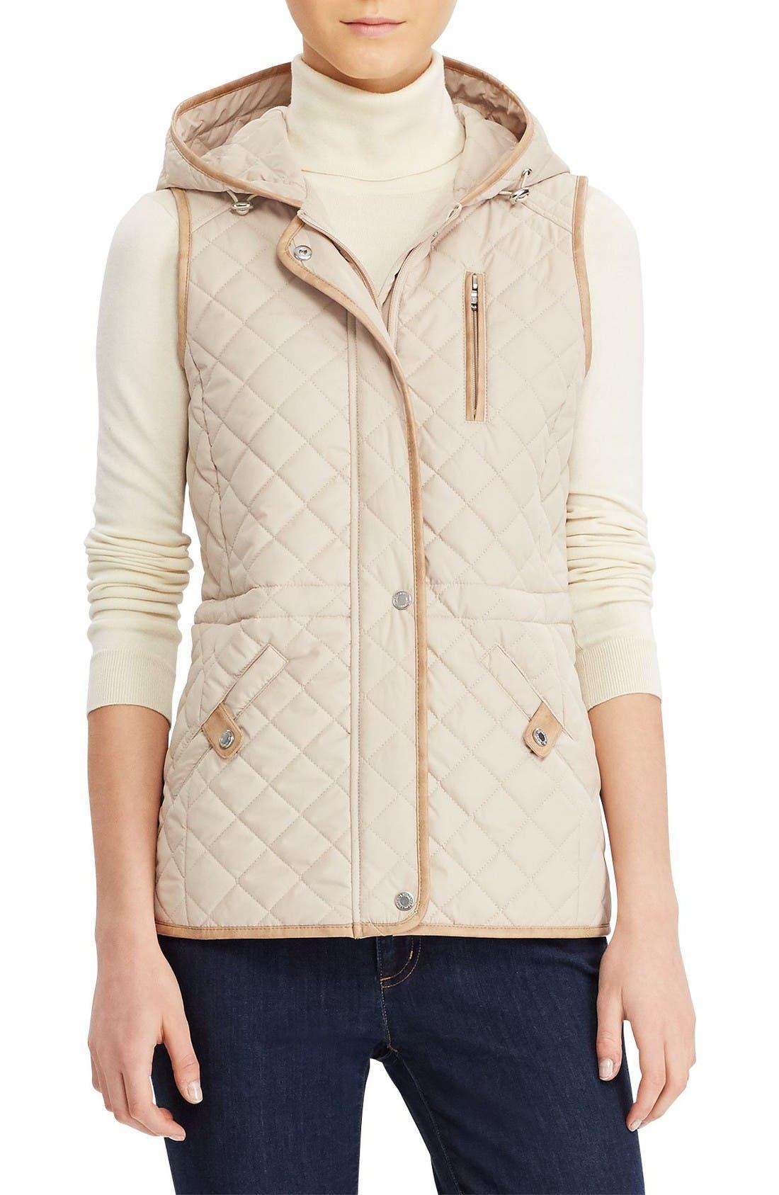 Lauren Ralph Lauren Hooded Quilted Vest