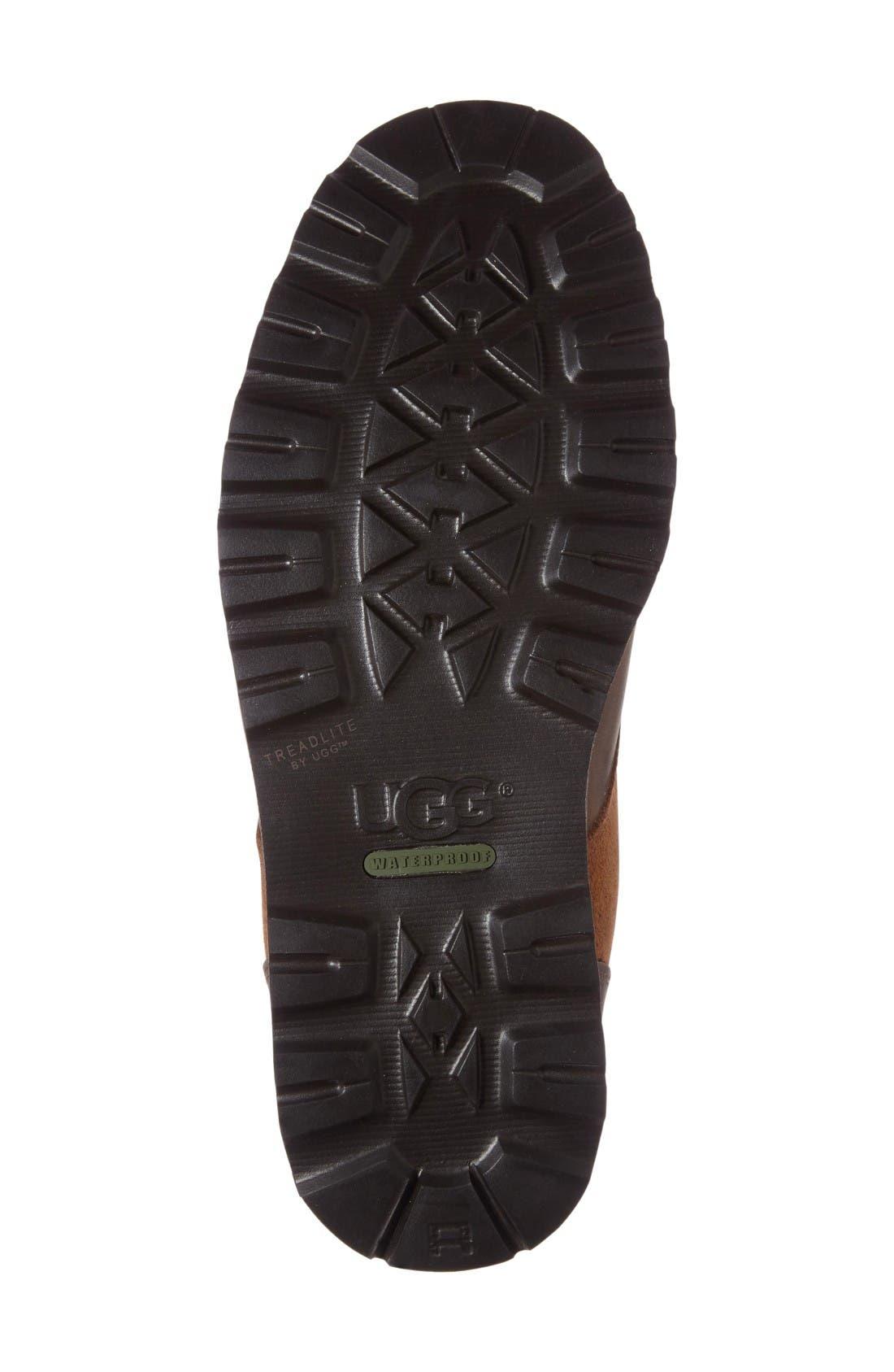 Alternate Image 4  - UGG® Hannen Plain Toe Waterproof Boot with Genuine Shearling (Men)