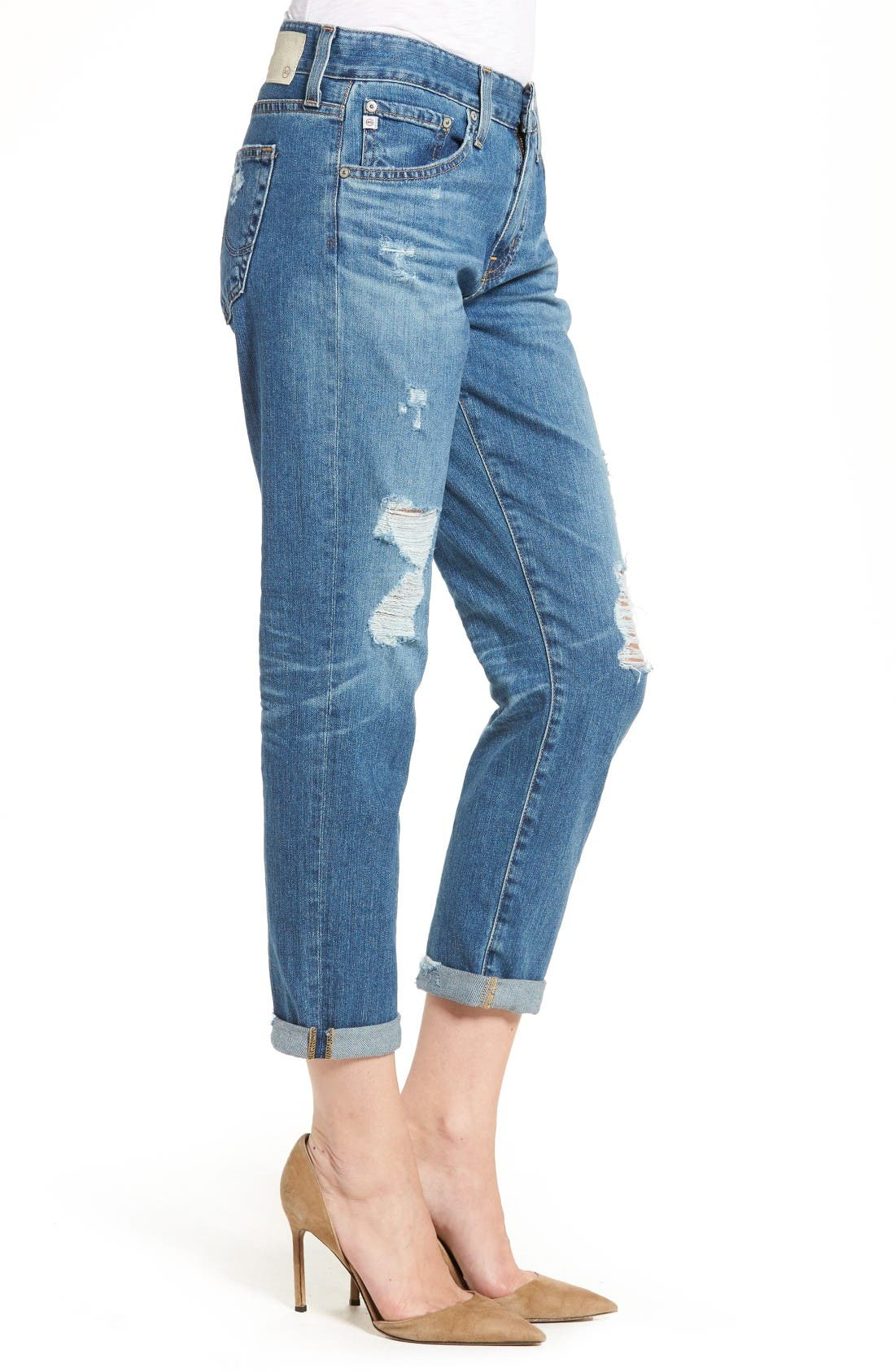 Ex-Boyfriend Crop Slim Jeans,                             Alternate thumbnail 3, color,                             12 Years Aroma