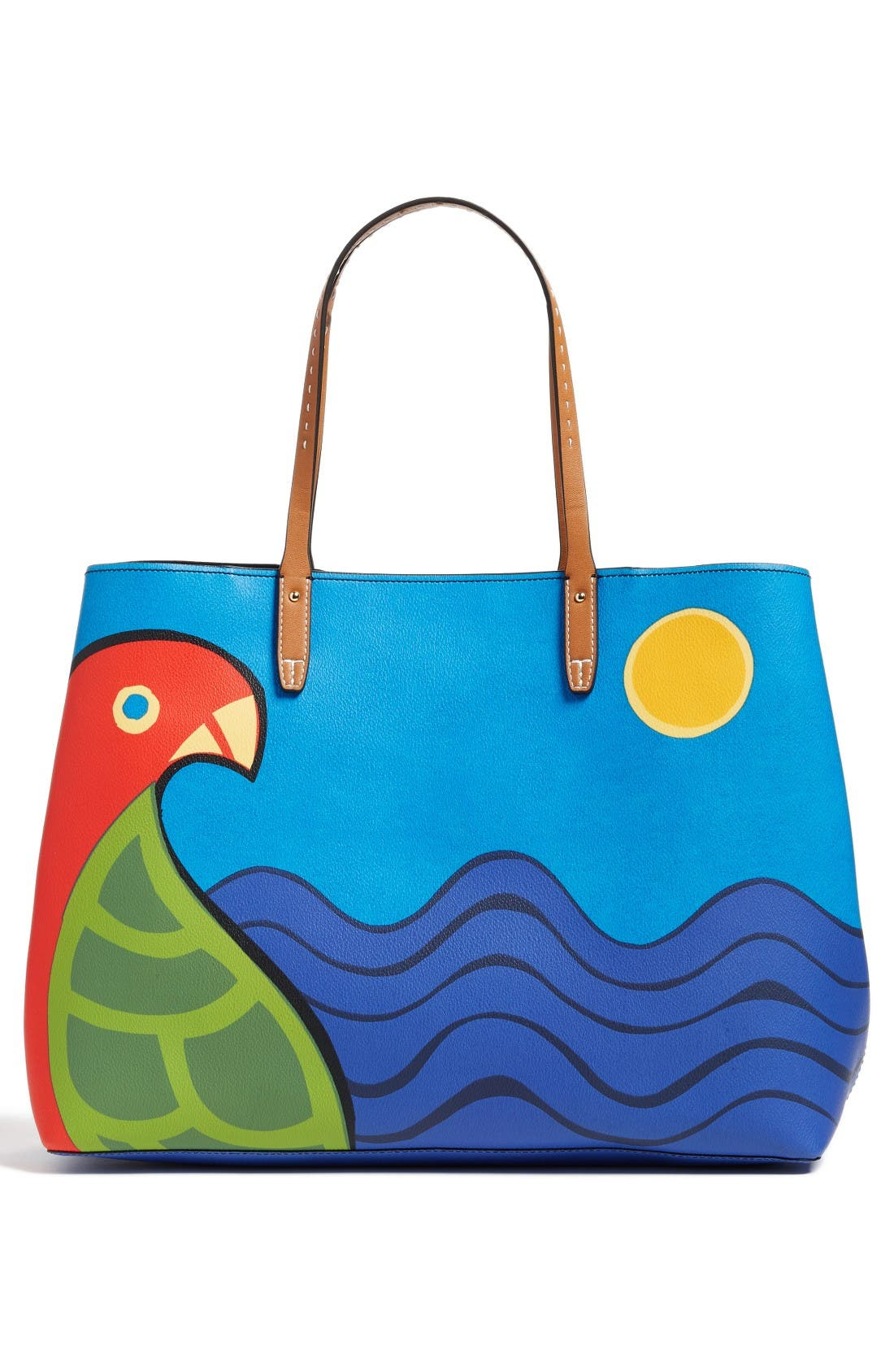 Alternate Image 3  - Tory Burch Kerrington Parrot Coated Canvas Tote