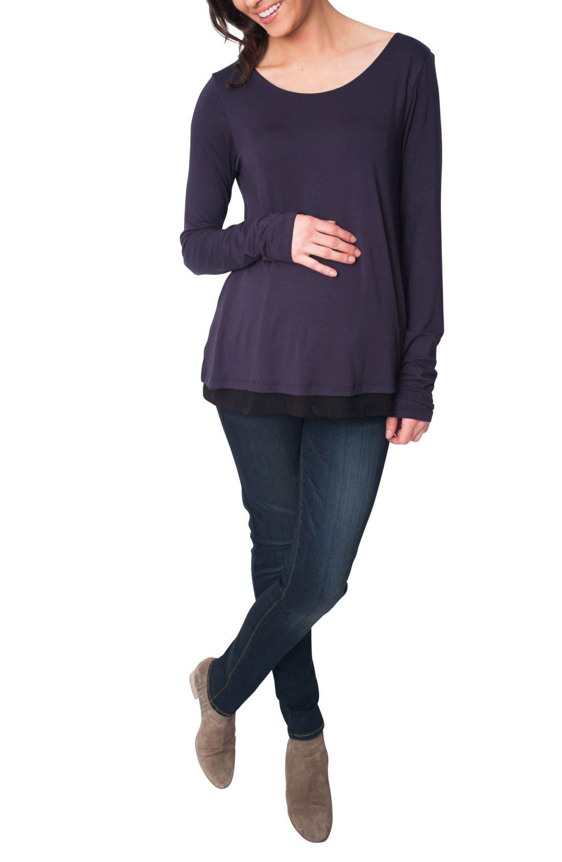 Nom Lila Maternity/Nursing Top