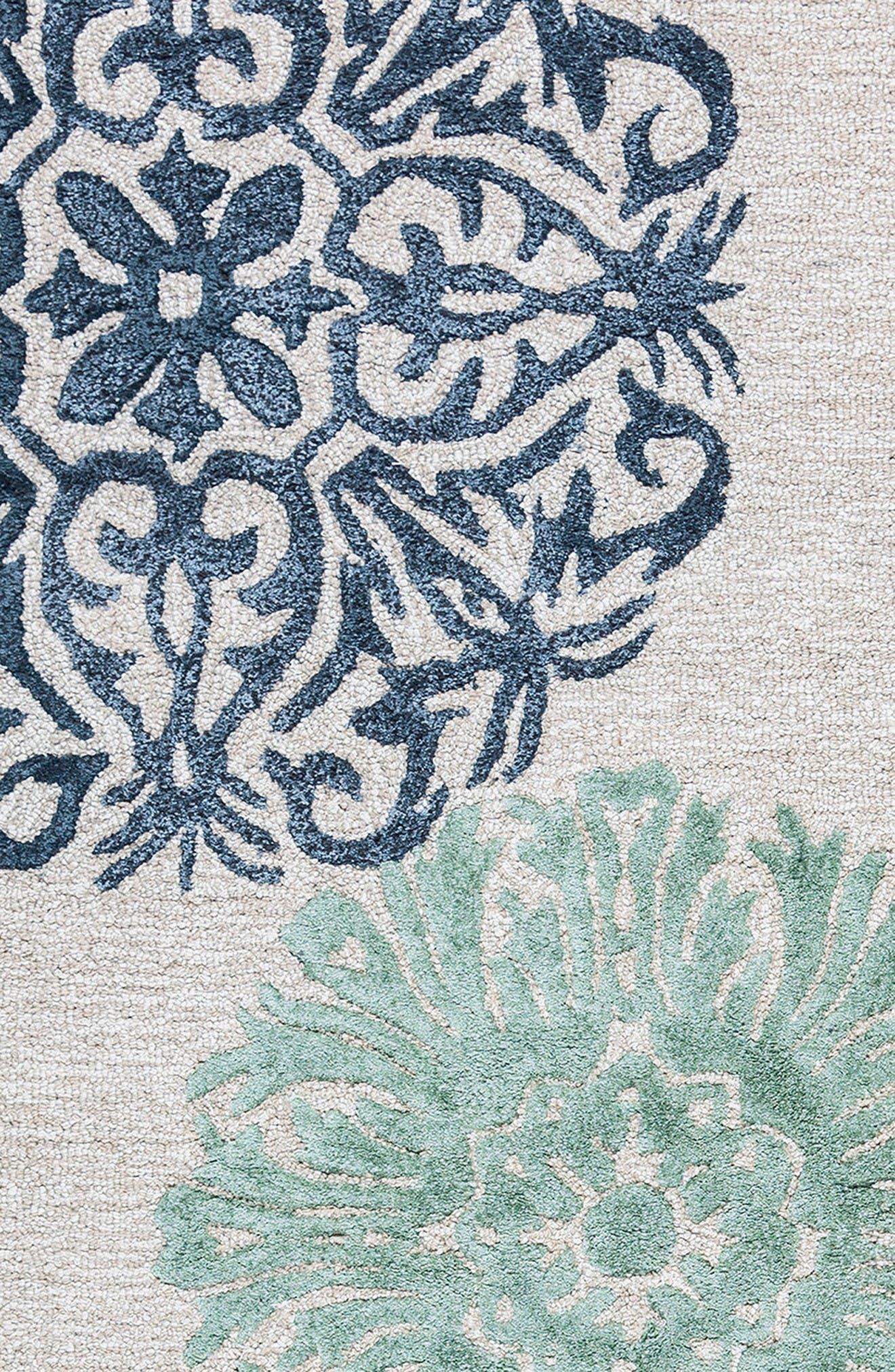 'Eden Harbor' Hand Tufted Wool Area Rug,                             Alternate thumbnail 6, color,                             Navy/ Aqua/ Grey