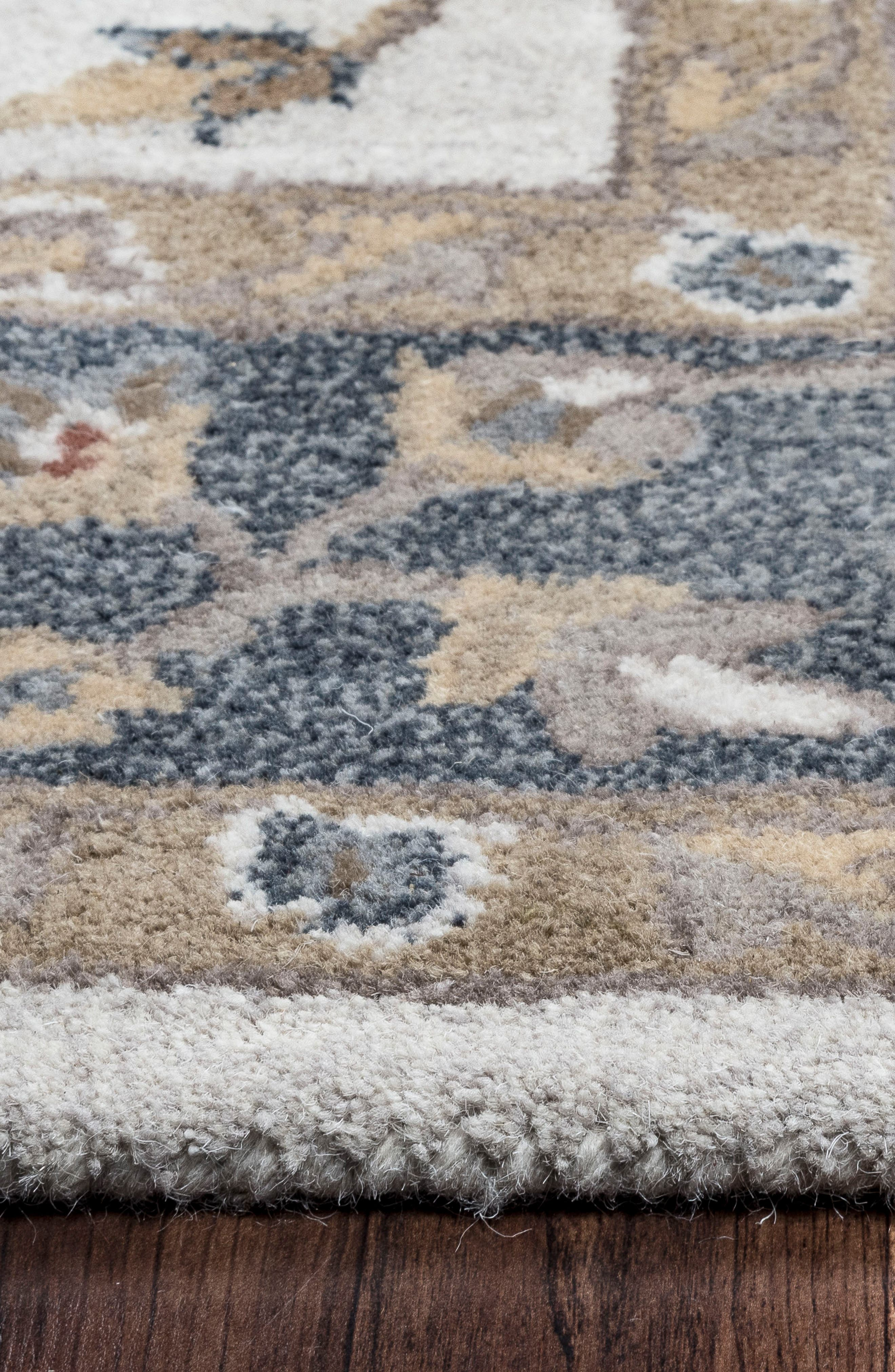 'Valintino Border' Hand Tufted Wool Area Rug,                             Alternate thumbnail 3, color,                             Taupe