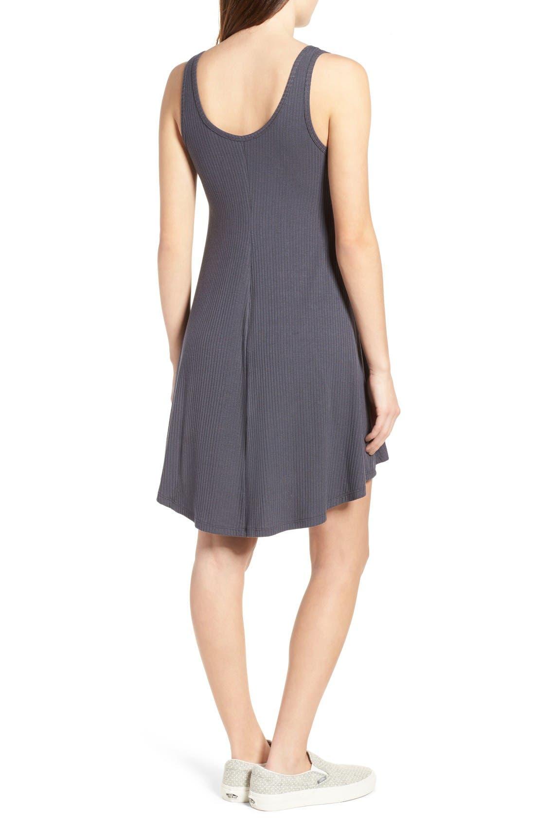 Alternate Image 2  - Lush Ribbed Skater Dress
