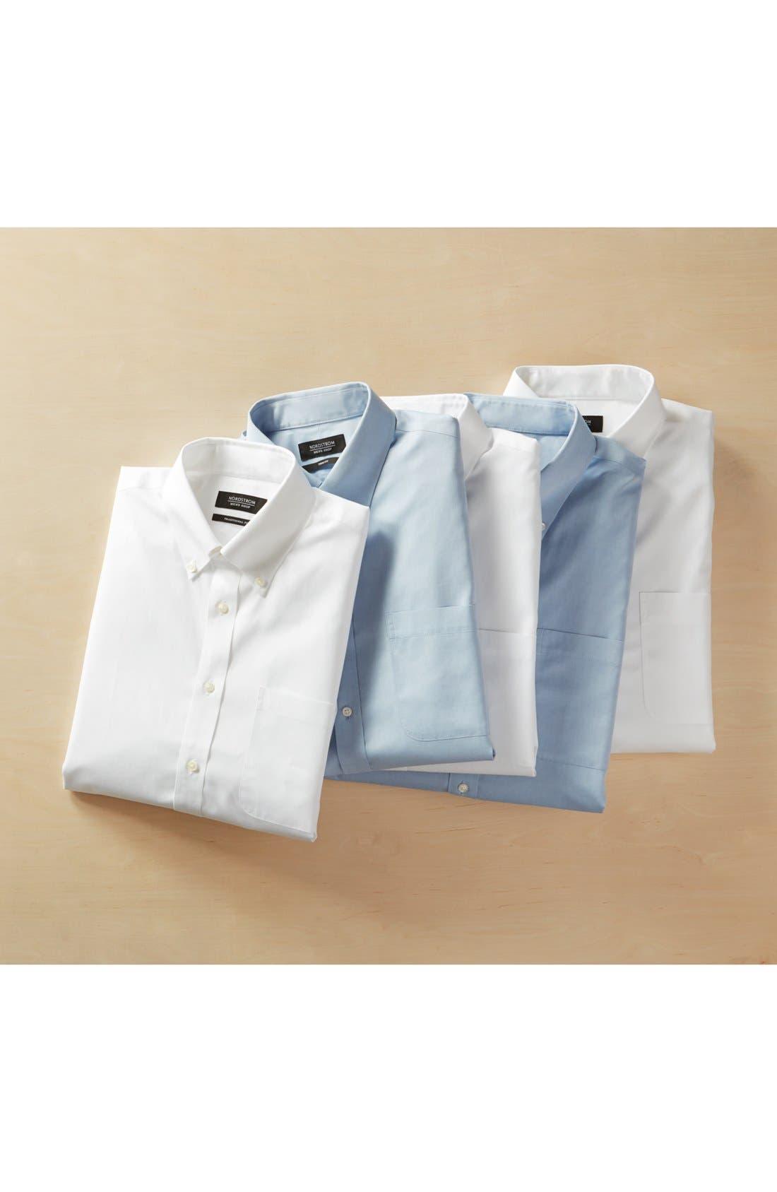 Alternate Image 6  - Nordstrom Men's Shop Smartcare™ Traditional Fit Pinpoint Dress Shirt
