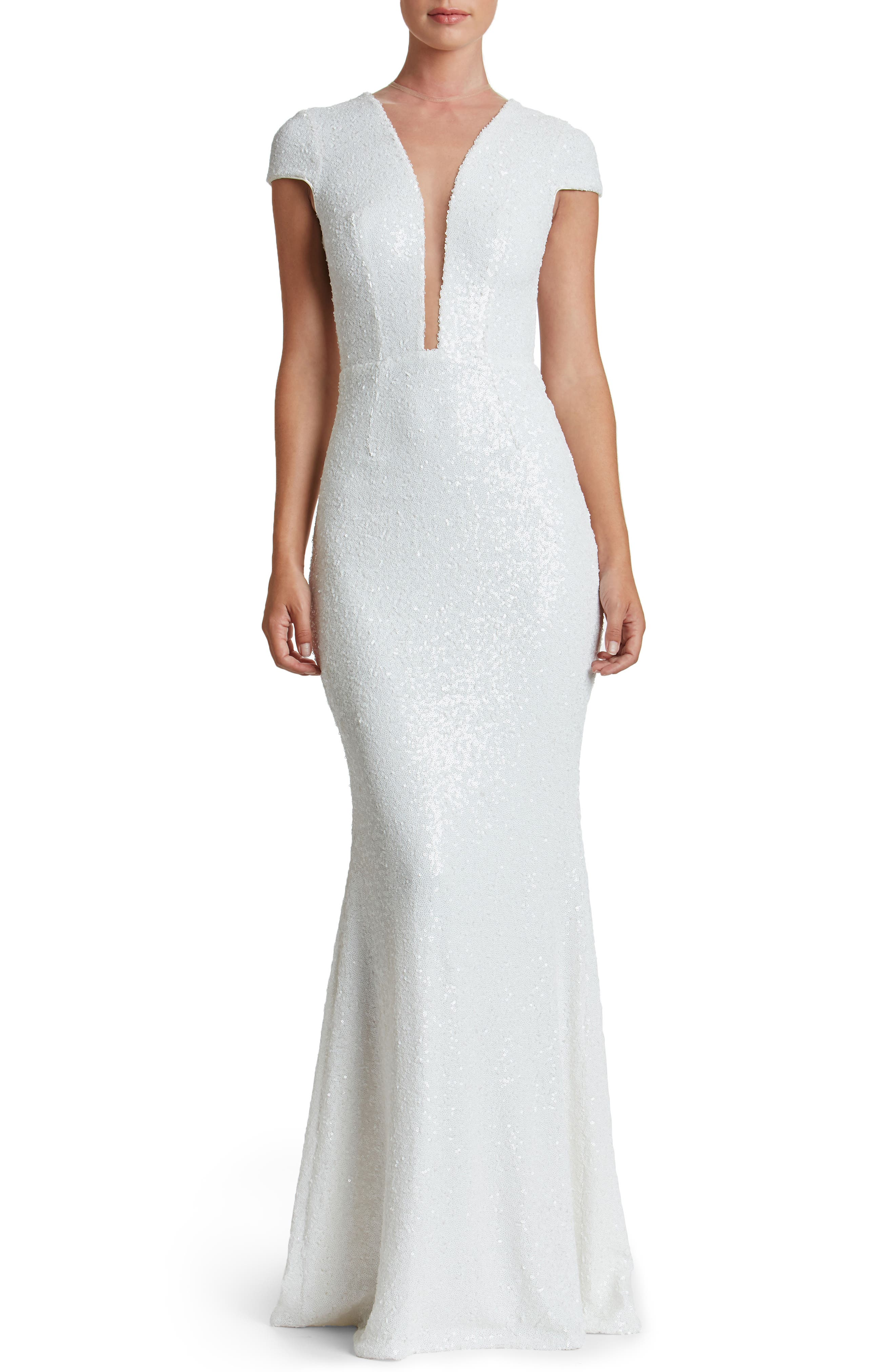 Main Image - Dress the Population Michelle Sequin Gown (Nordstrom Exclusive)