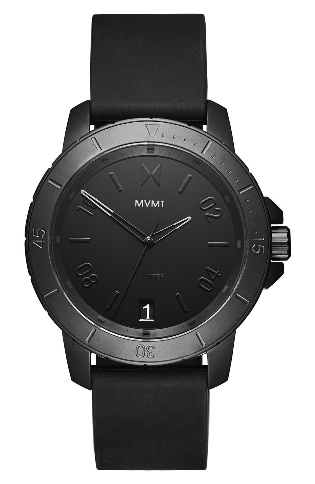 MVMT Modern Sport Silicone Strap Watch, 42mm