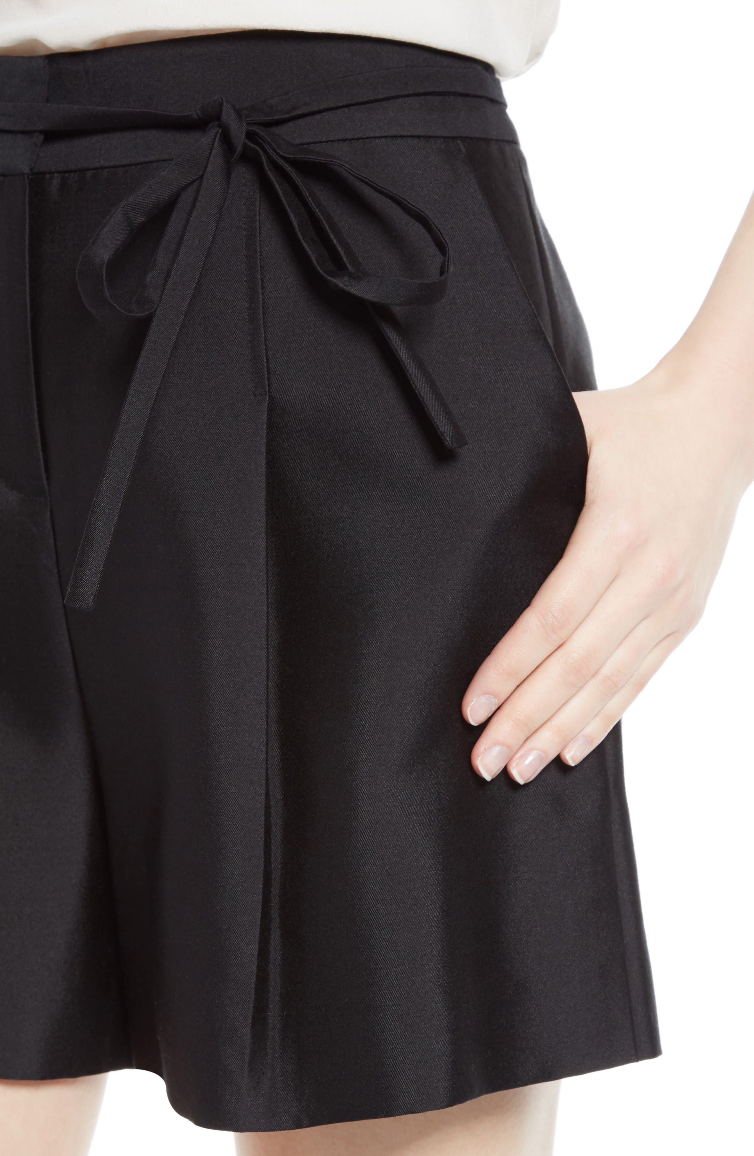 Alternate Image 4  - GREY Jason Wu Belted Wool & Silk Shorts