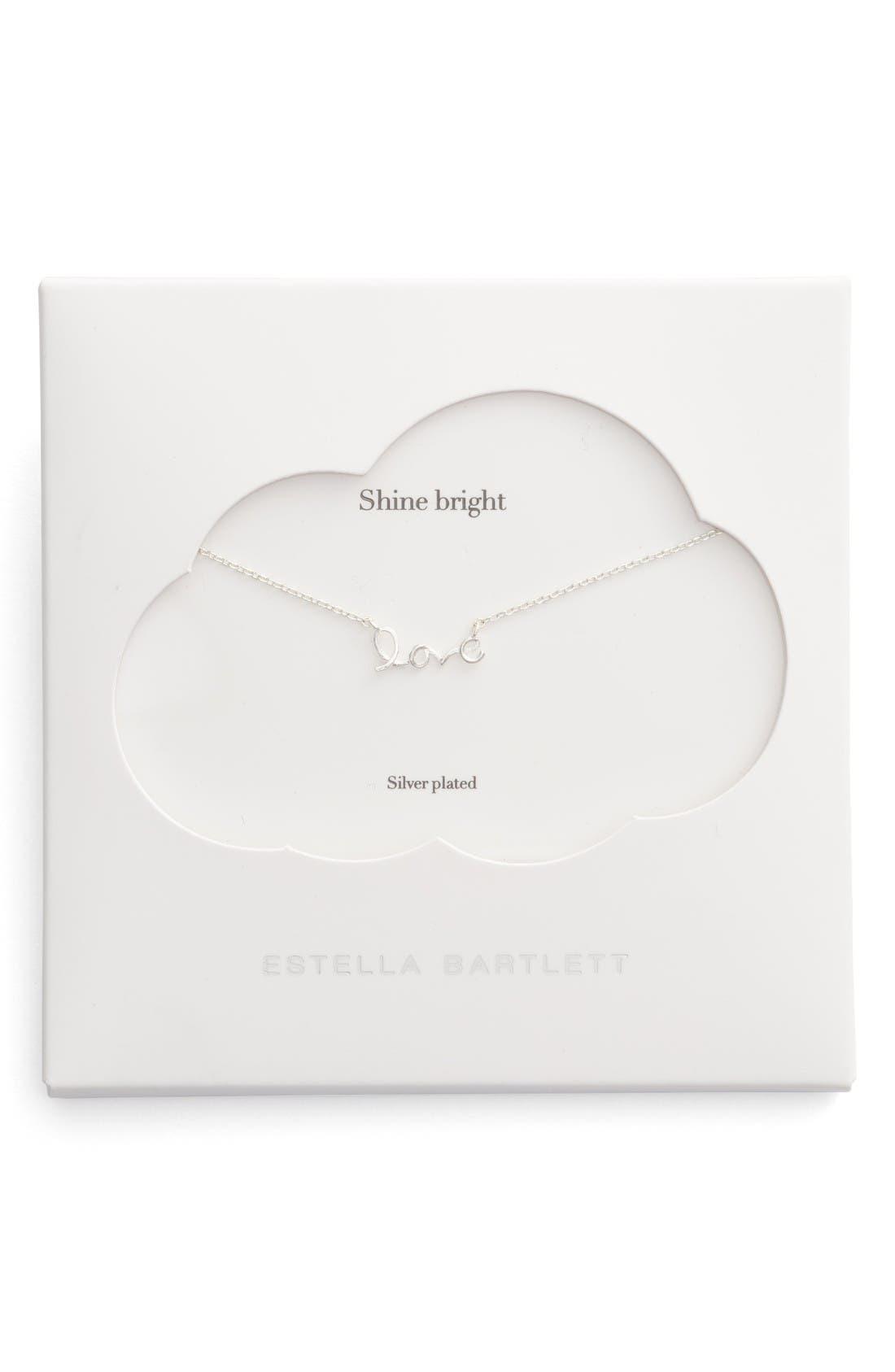 ESTELLA BARTLETT Shine Bright Love Script Necklace