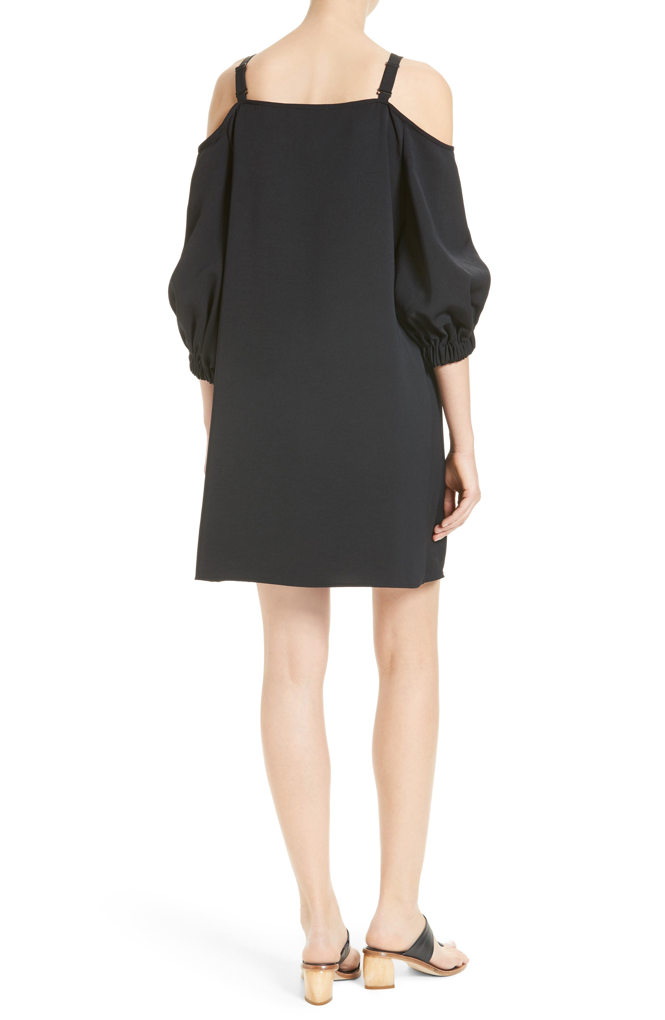Alternate Image 2  - Tibi Cold Shoulder Suspender Shift Dress