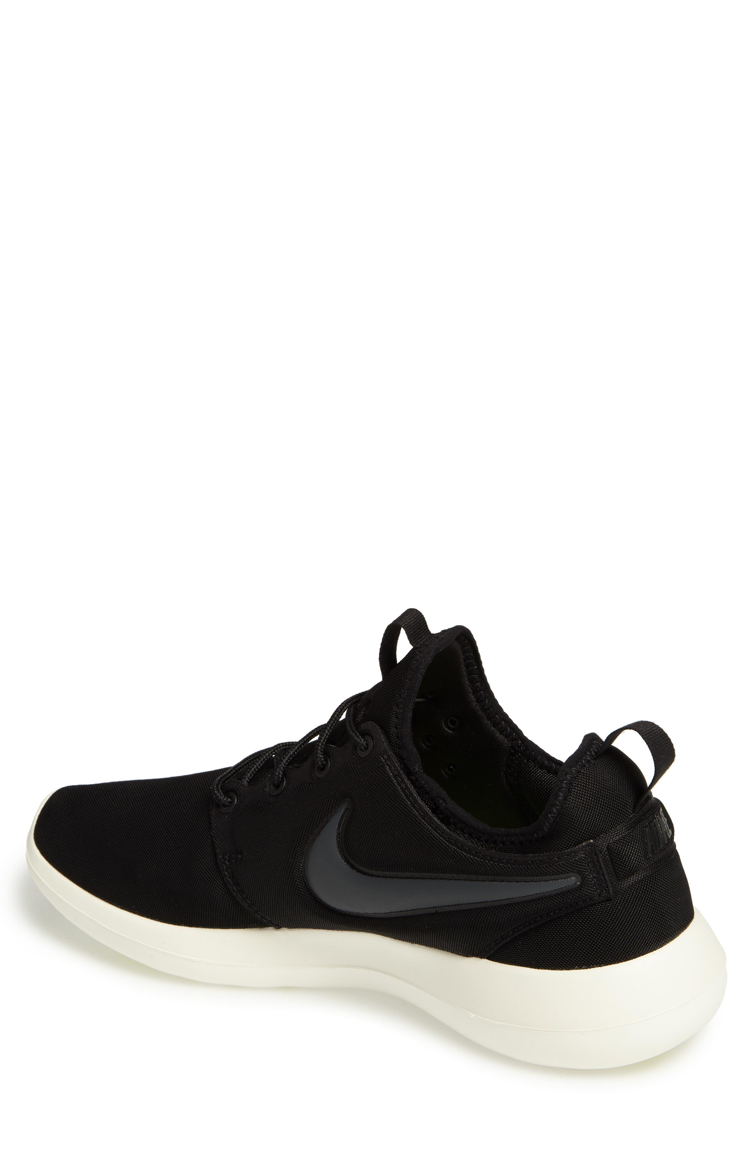 Roshe Two Sneaker,                             Alternate thumbnail 2, color,                             Black/ Anthracite/ Sail/ Volt