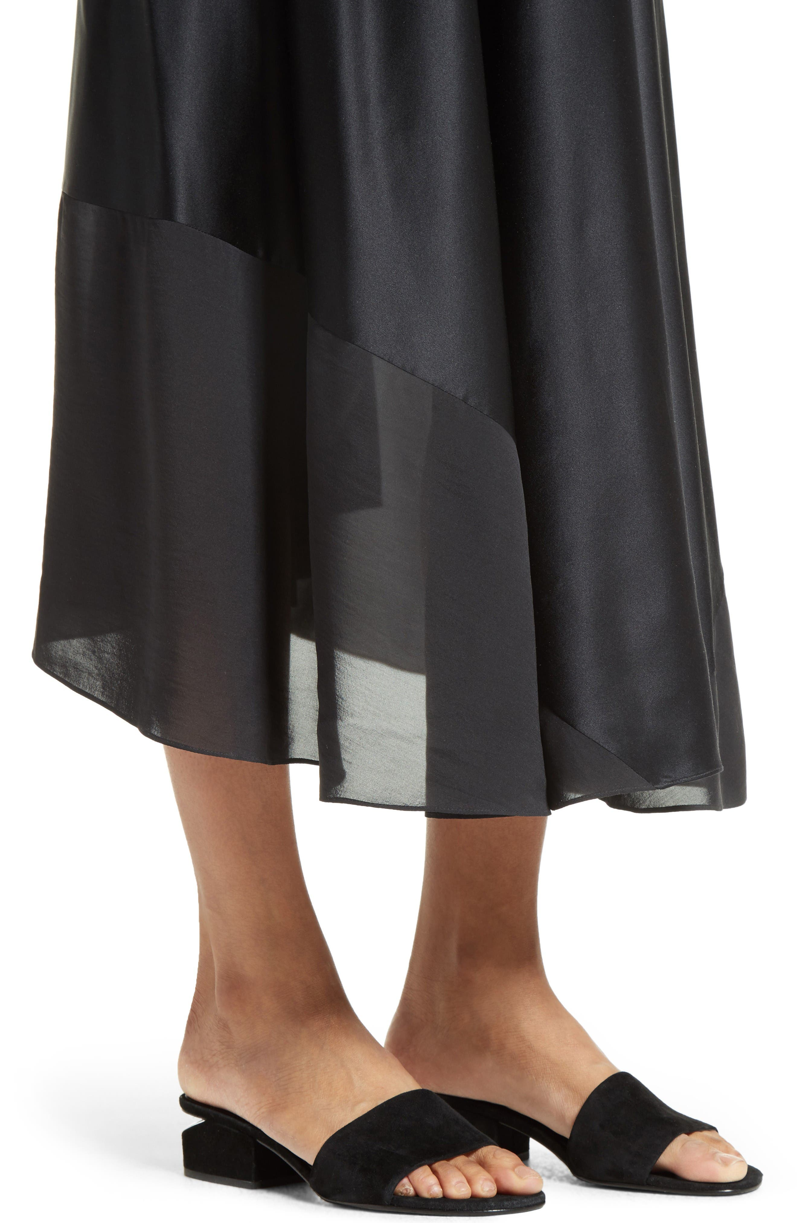 Alternate Image 4  - T by Alexander Wang Silk Charmeuse Midi Dress