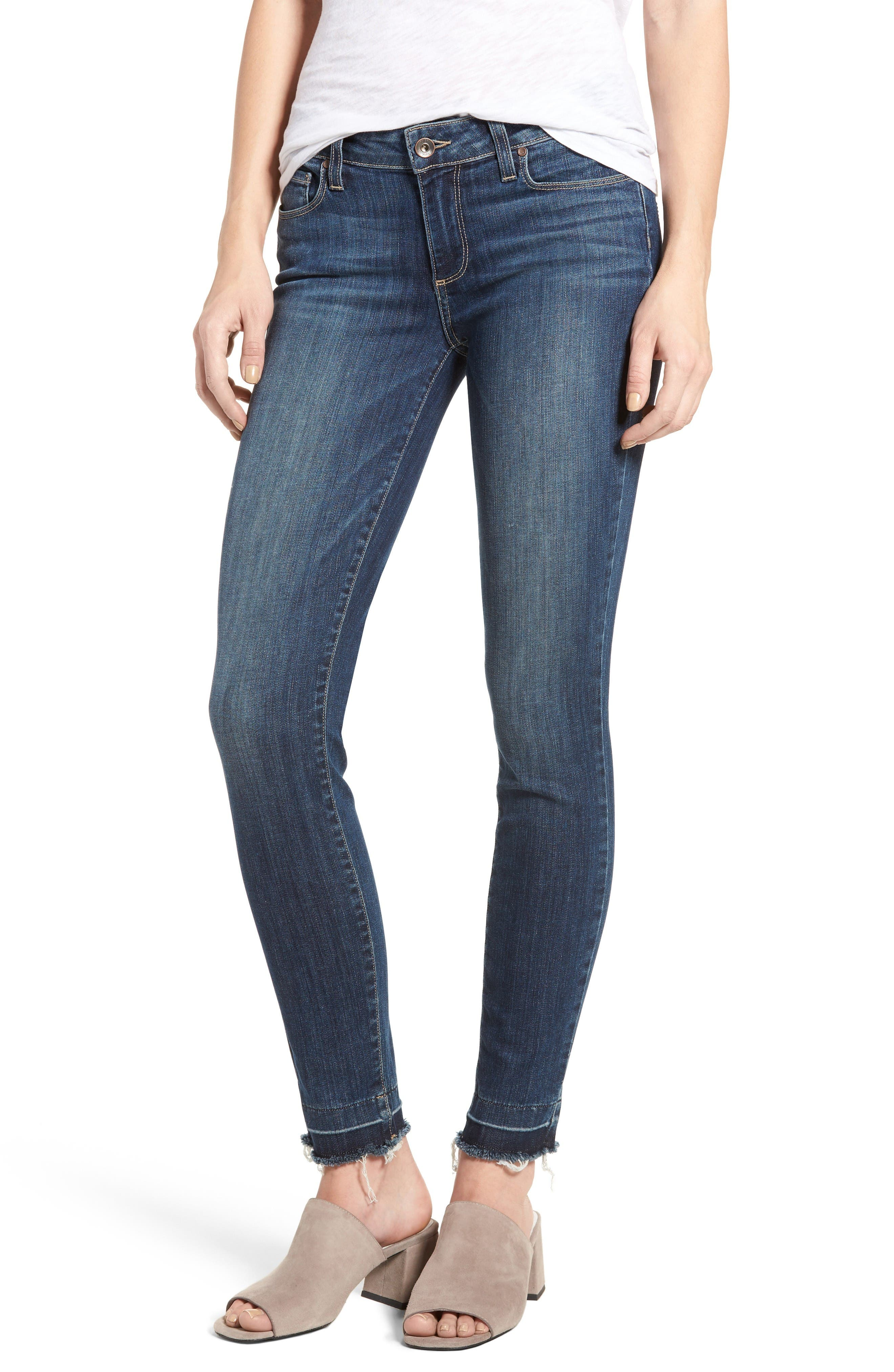 Alternate Image 1 Selected - PAIGE Legacy - Verdugo Ankle Ultra Skinny Jeans (Sandy)