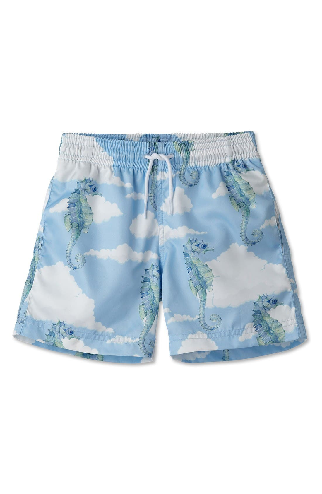 Alternate Image 1 Selected - Stella Cove Seahorse Swim Trunks (Toddler Boys & Little Boys)