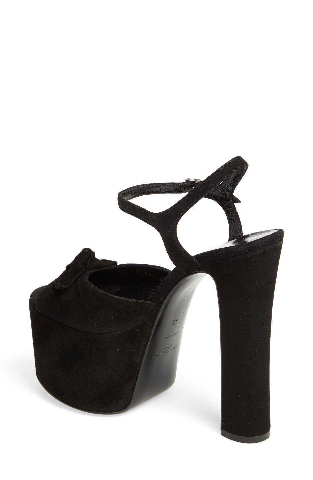Alternate Image 2  - Saint Laurent Betty Platform Sandal (Women)