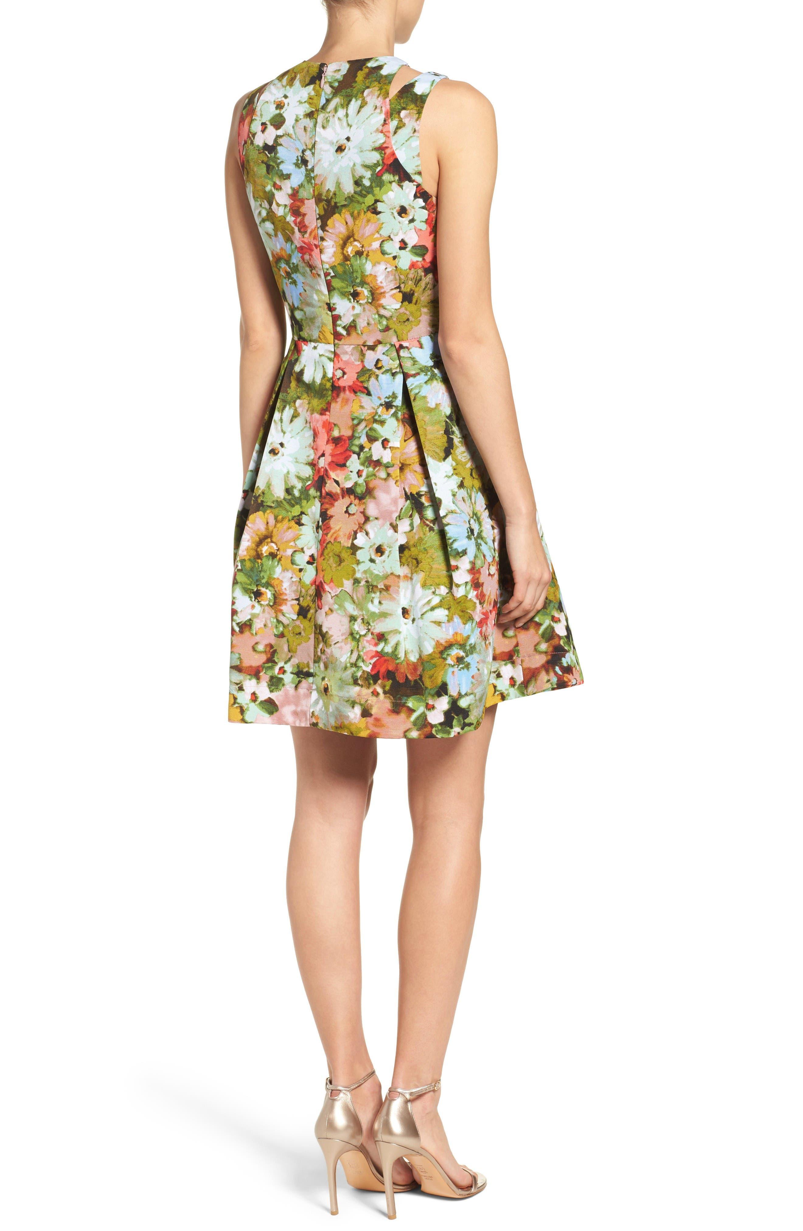 Alternate Image 2  - Taylor Dresses Vintage Floral Fit & Flare Dress