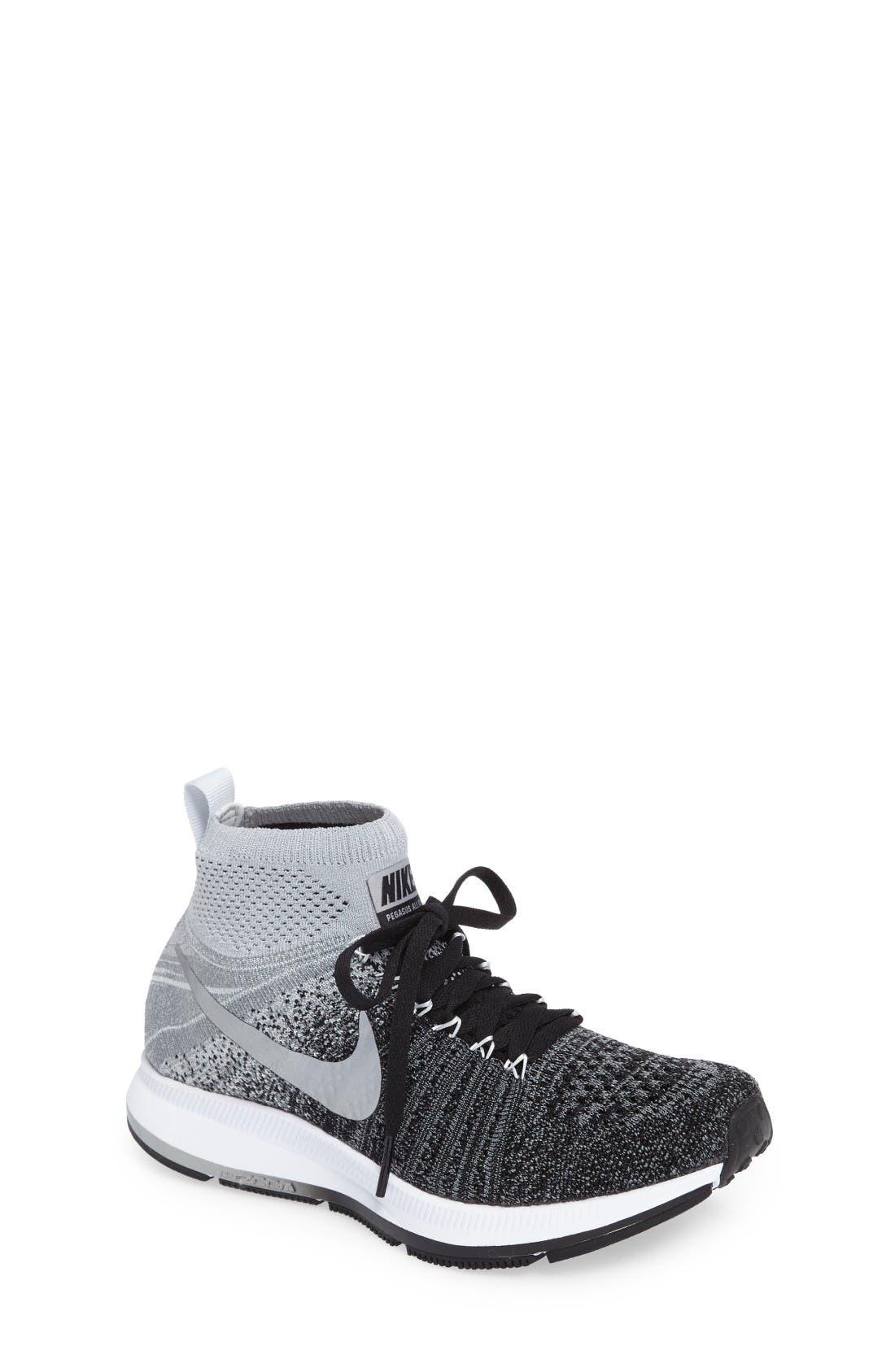 Main Image - Nike Air Zoom Pegasus All Out Flyknit Running Shoe (Big Kid)