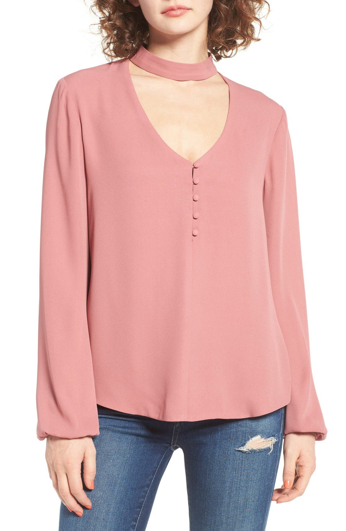 Alternate Image 1 Selected - WAYF Sweet Symphony V-Neck Blouse