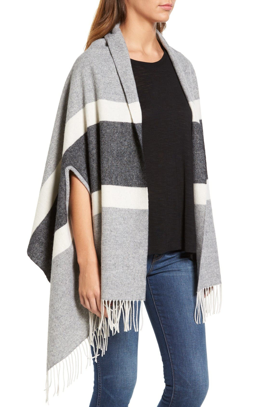 Alternate Image 3  - Madewell Stripe Cape Scarf