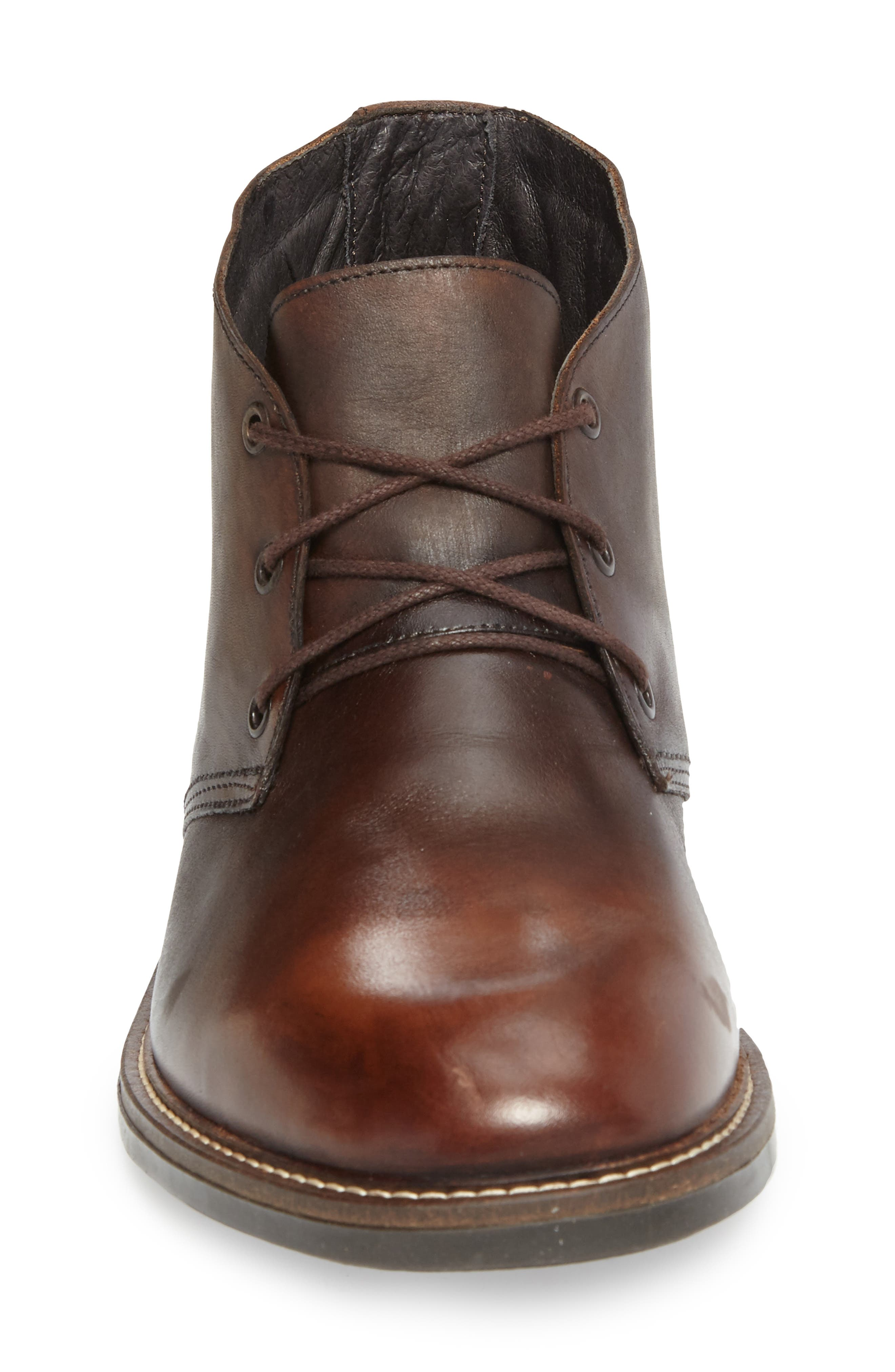 Pilot Chukka Boot,                             Alternate thumbnail 3, color,                             Brown Gradient Leather