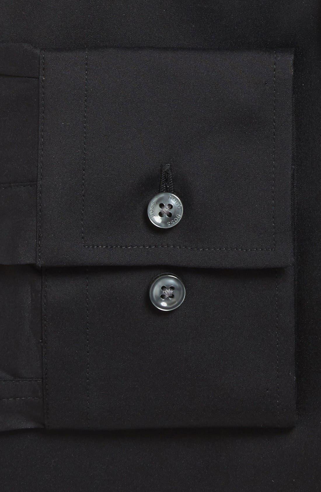 'Jason' Slim Fit Solid Stretch Dress Shirt,                             Alternate thumbnail 2, color,                             Black