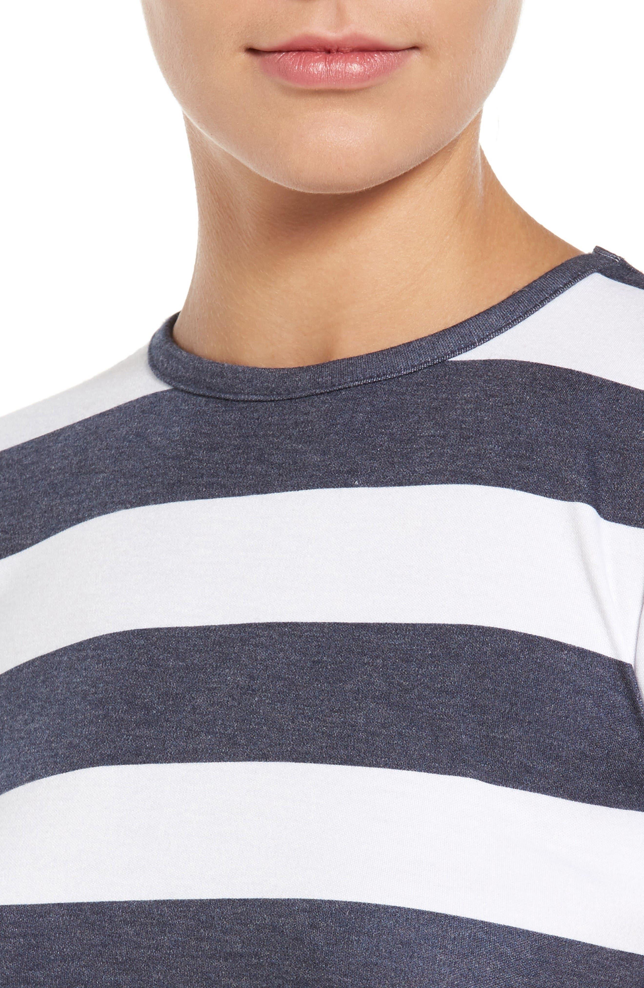 Alternate Image 4  - MICHAEL Michael Kors Rugby Stripe T-Shirt Dress (Regular & Petite)