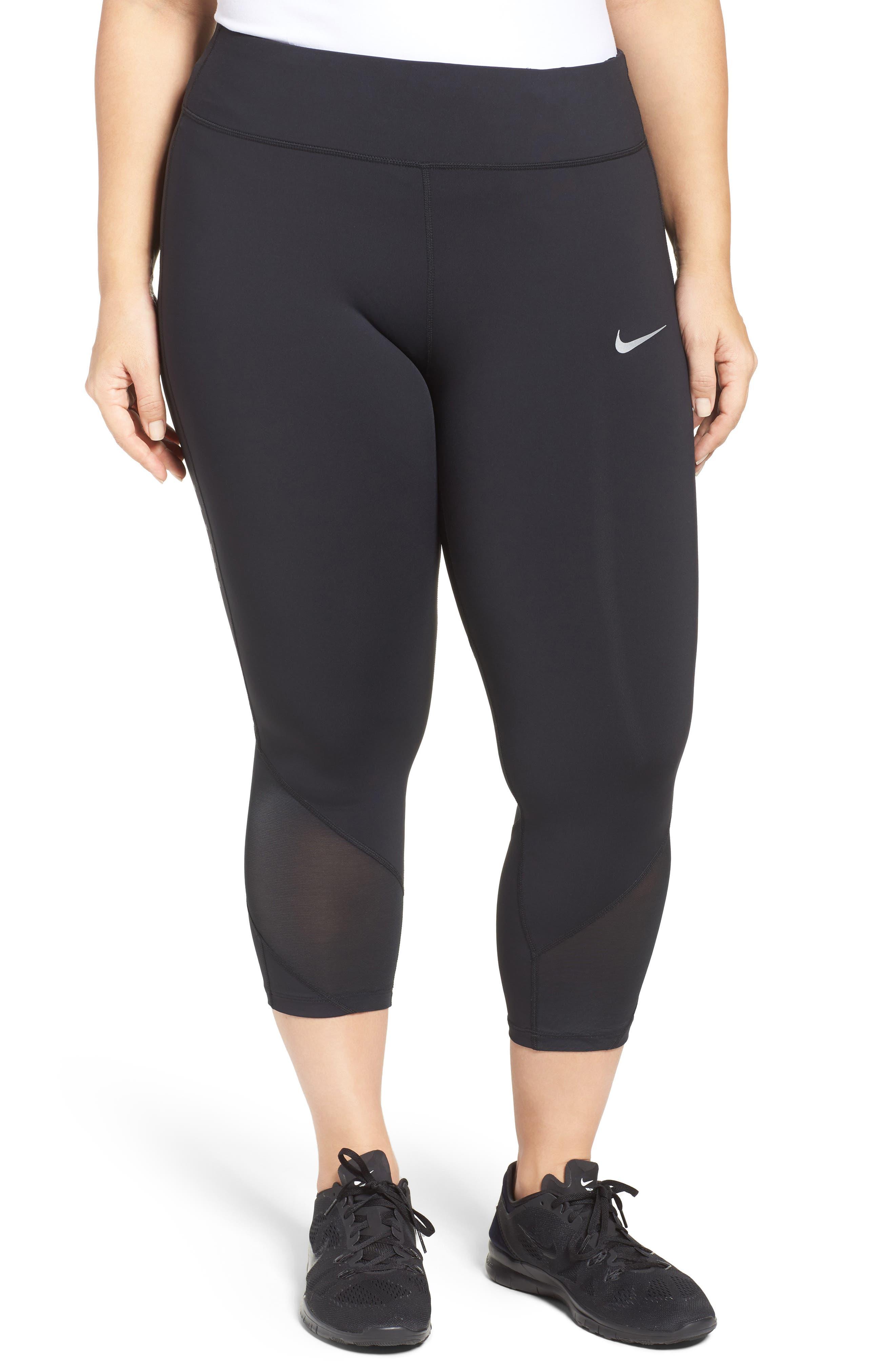 Nike Power Epic Crop Run Tights (Plus Size)