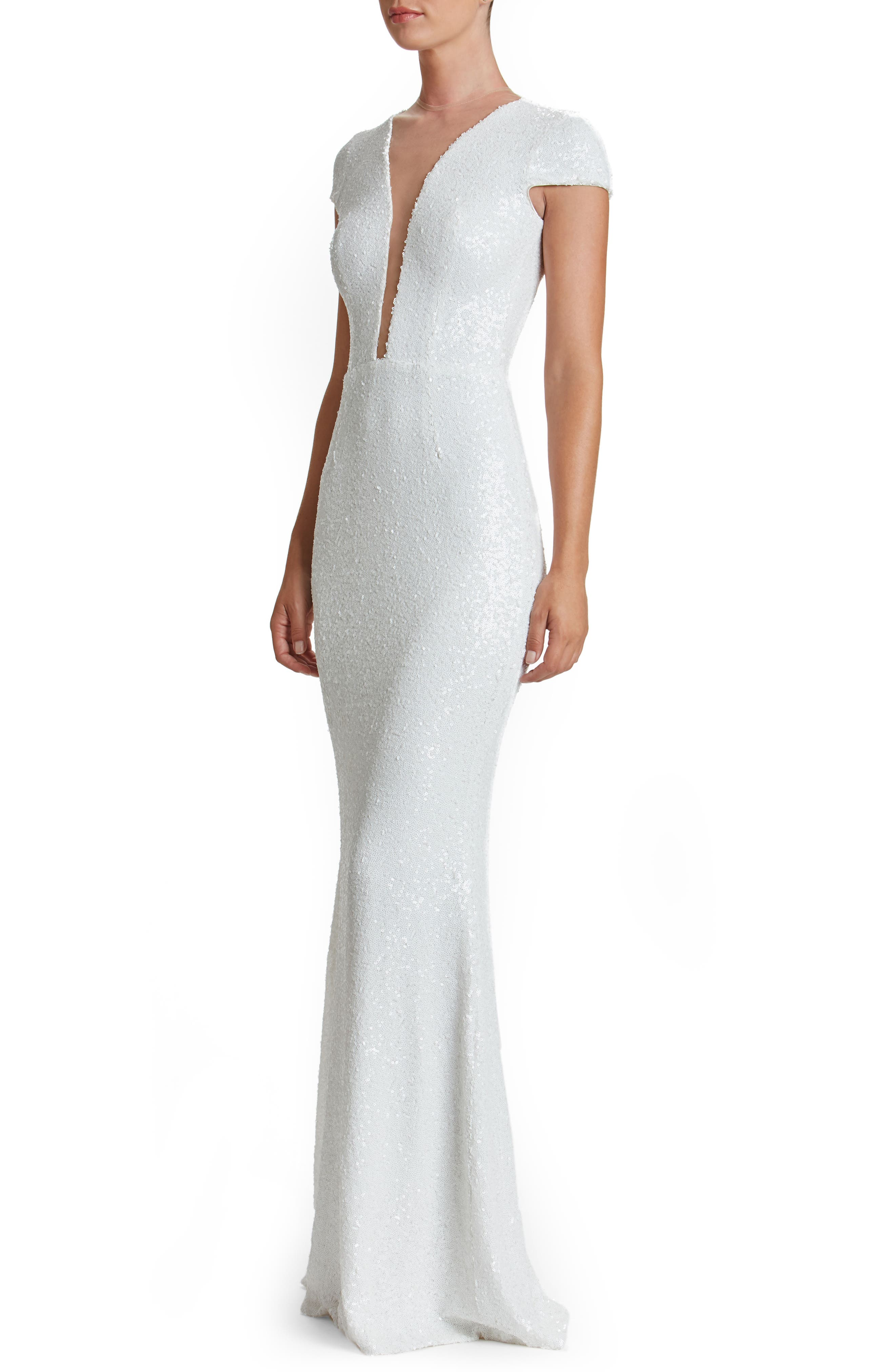 Alternate Image 4  - Dress the Population Michelle Sequin Gown (Nordstrom Exclusive)