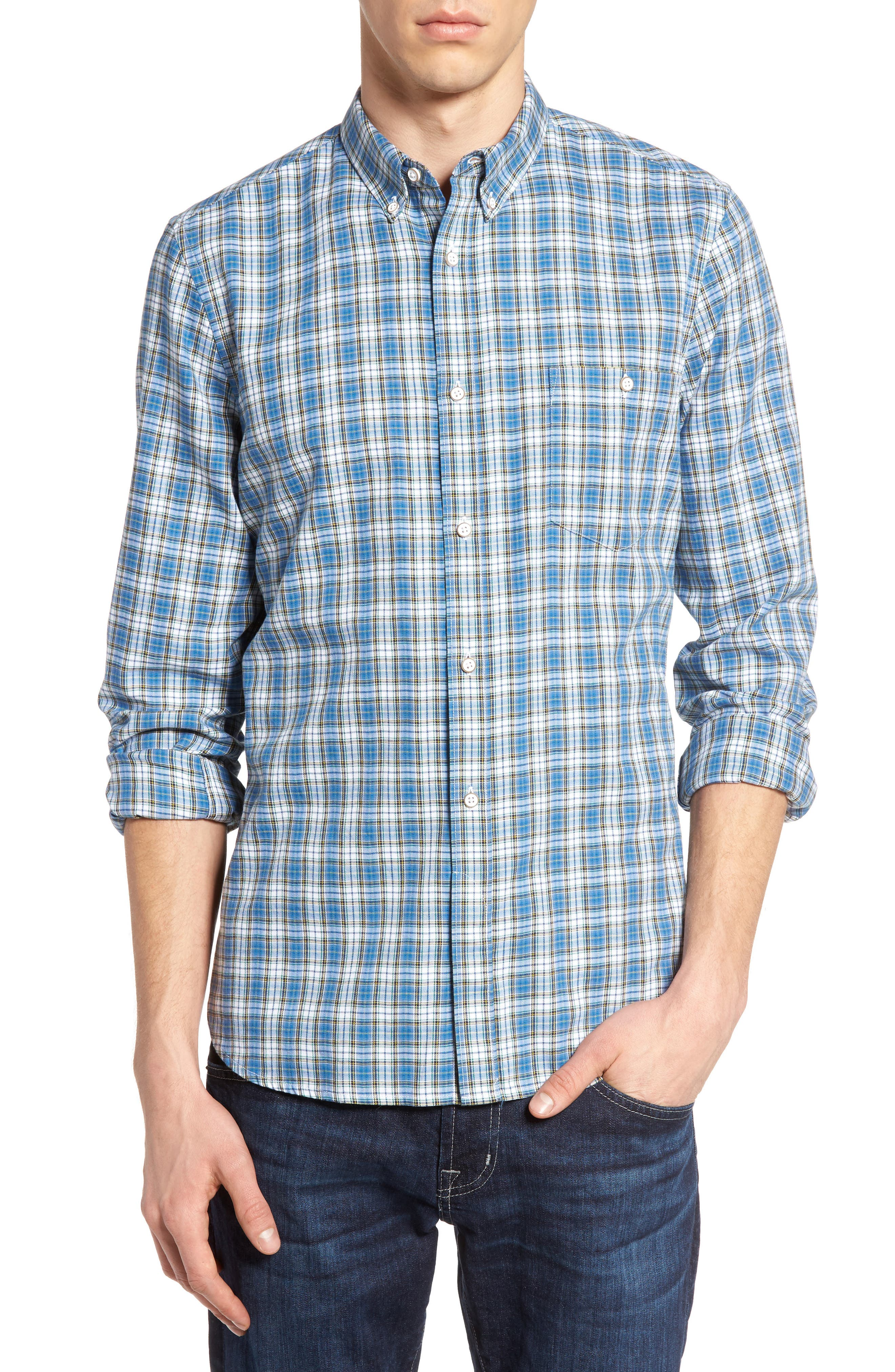 French Connection Slim Fit Tartan Sport Shirt