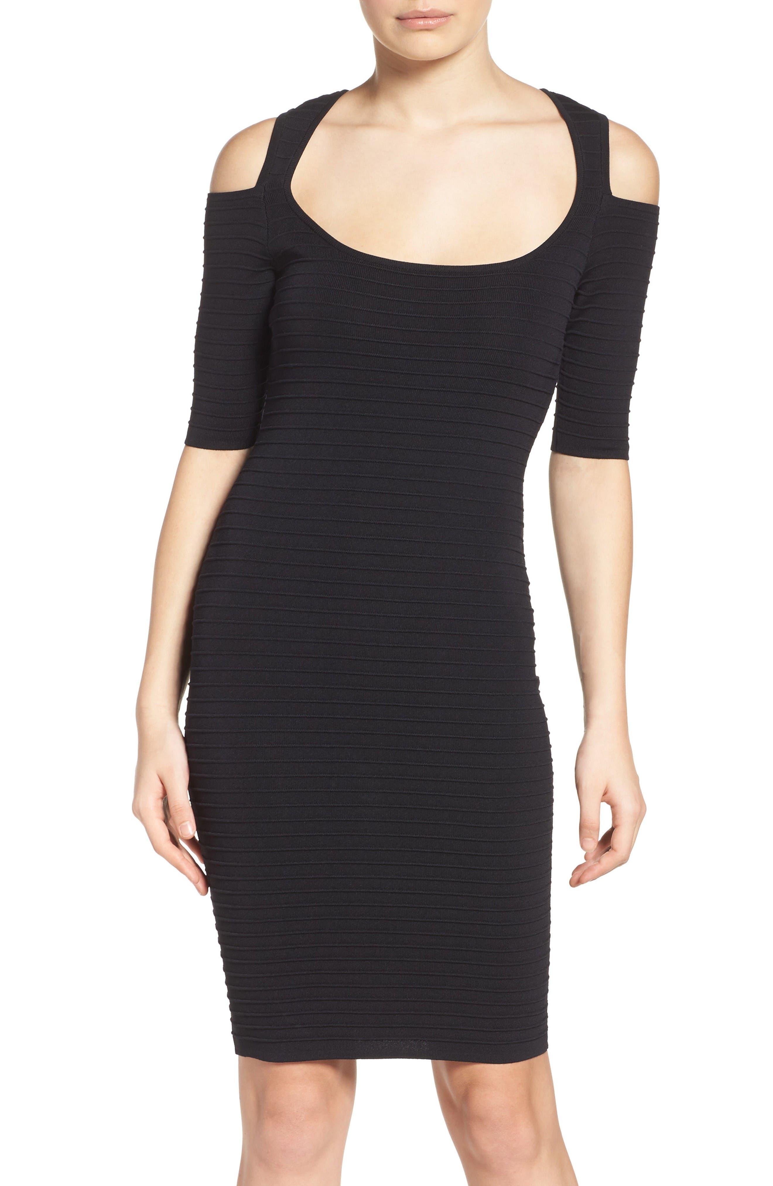 Ali & Jay Cold Shoulder Body-Con Dress