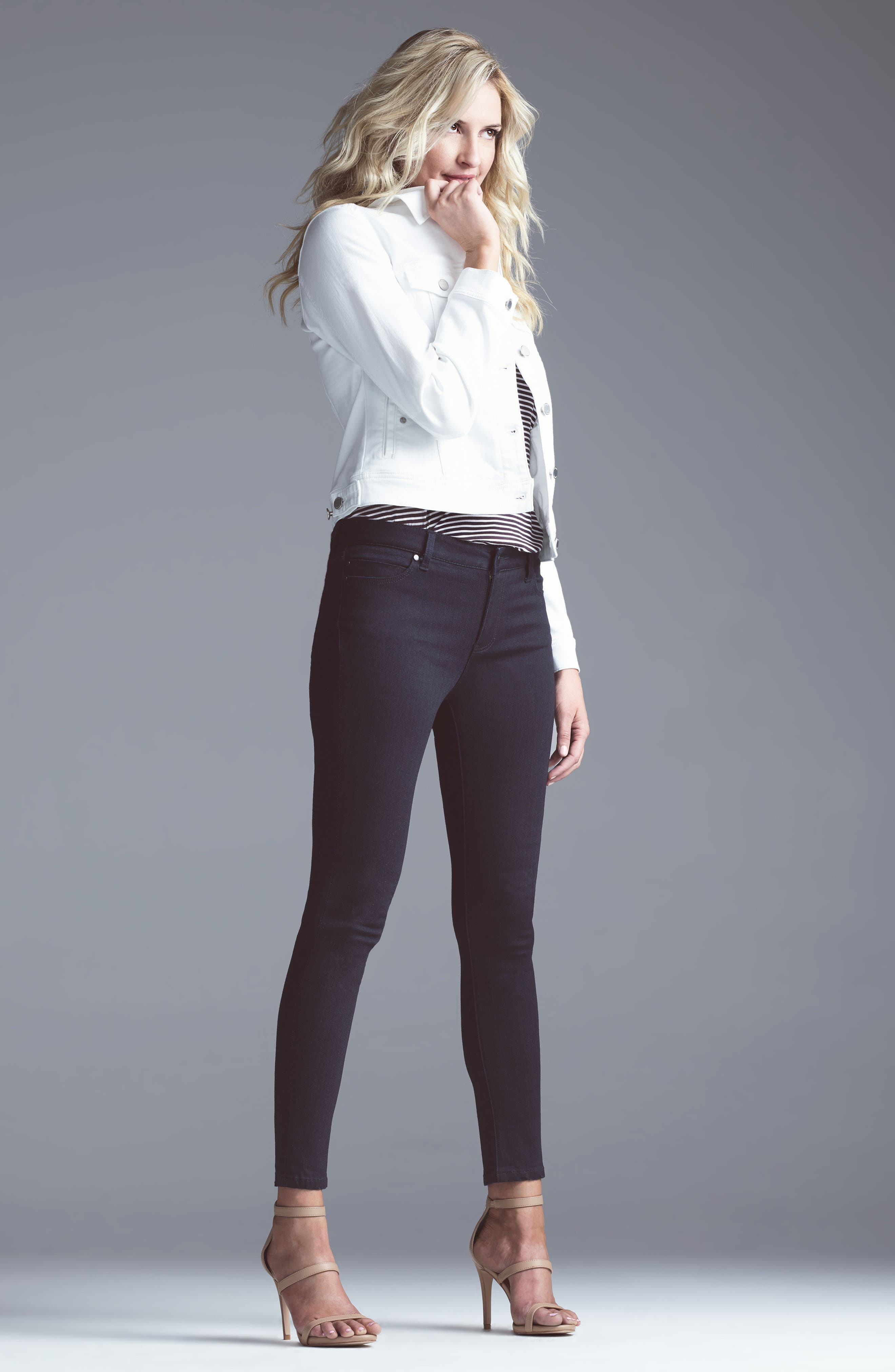 Alternate Image 2  - Liverpool Jeans Company Penny Skinny Ankle Jeans (Regular & Petite)