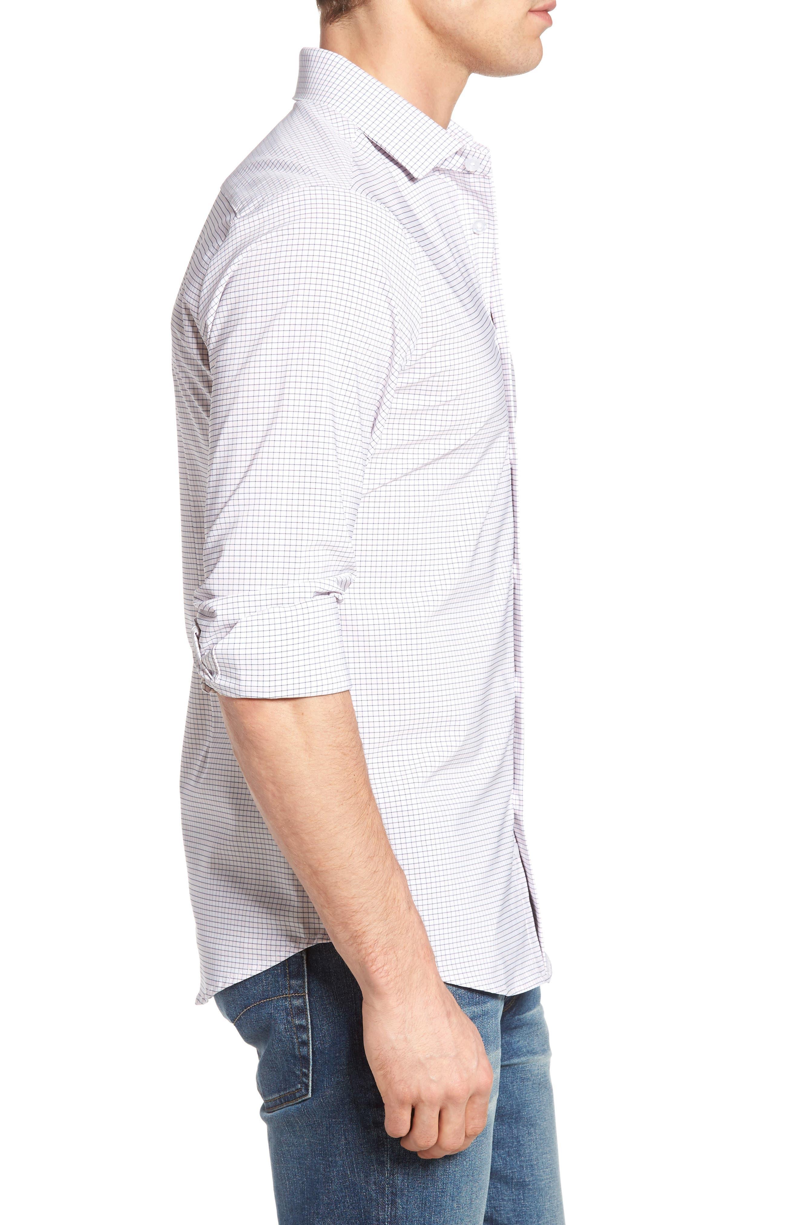 Alternate Image 3  - Mizzen+Main Fowler Illusion Gingham Performance Sport Shirt