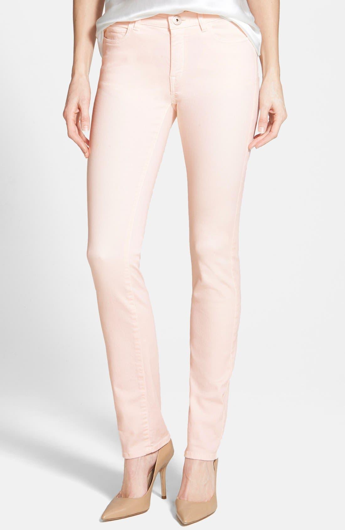 'Genarca' Skinny Jeans,                             Main thumbnail 1, color,                             Pink