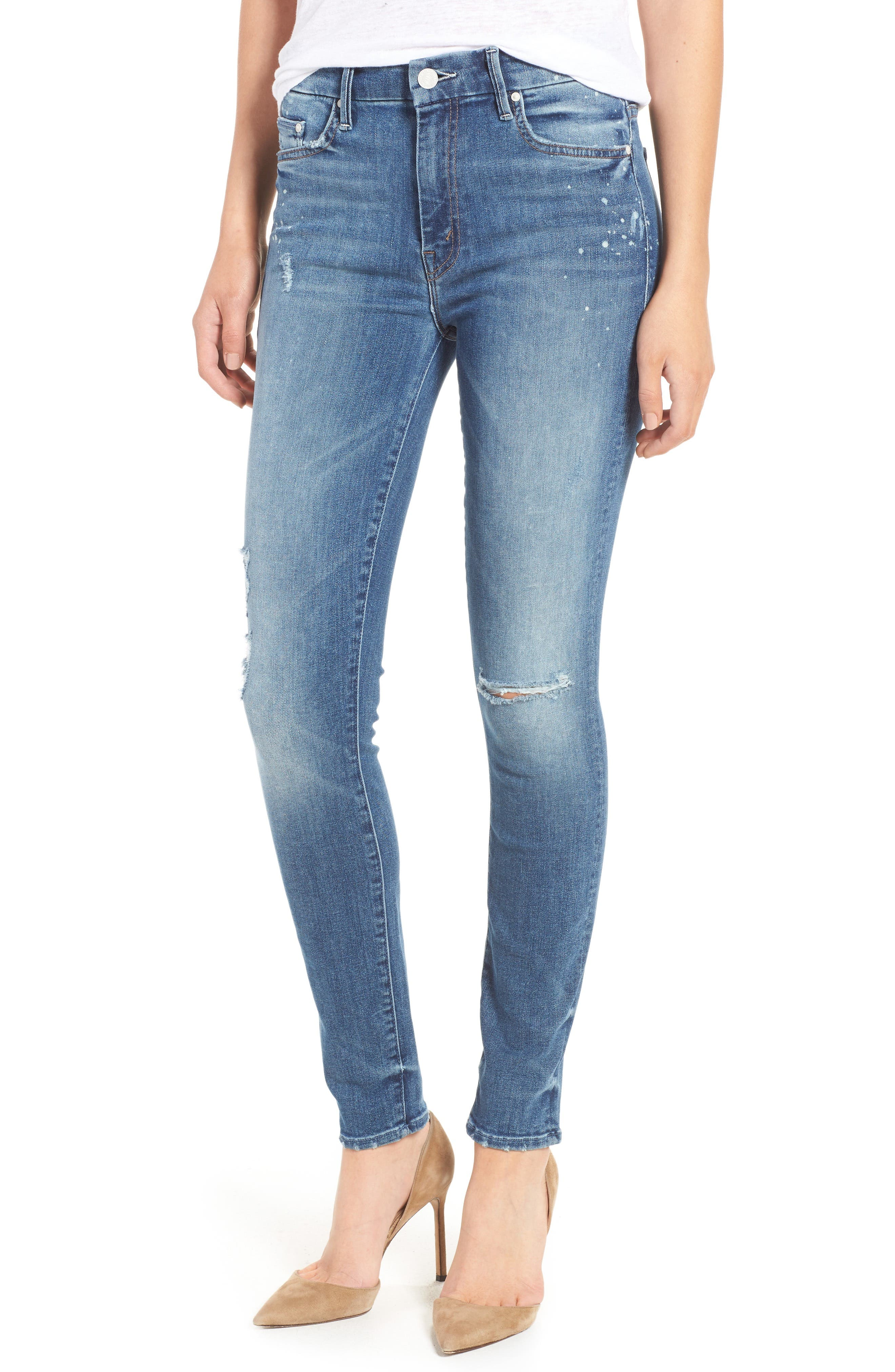 Alternate Image 1 Selected - MOTHER The Looker High Waist Skinny Jeans (Loud Is How I Love You)