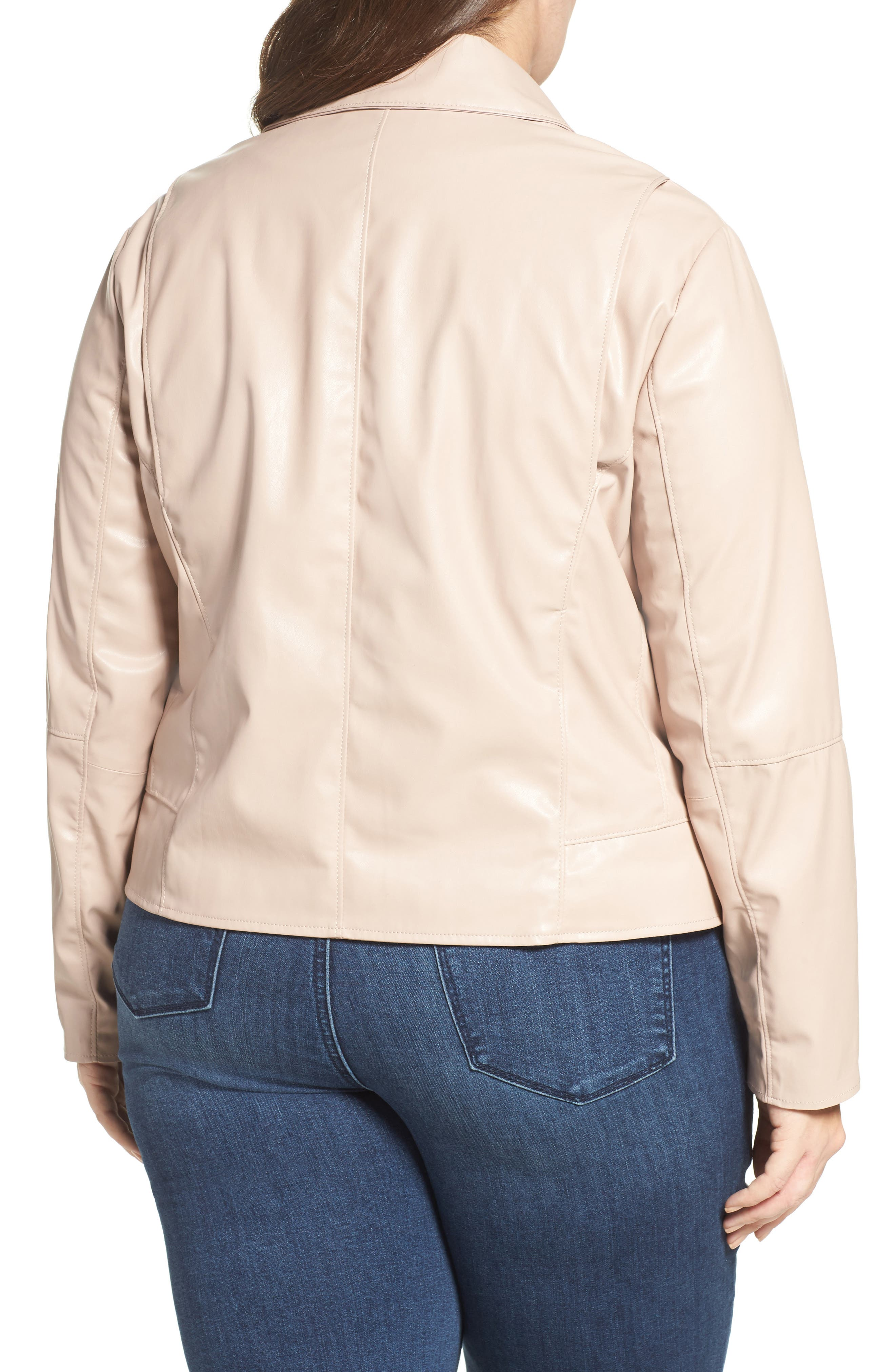 Alternate Image 2  - Tart Mollie Faux Leather Jacket (Plus Size)