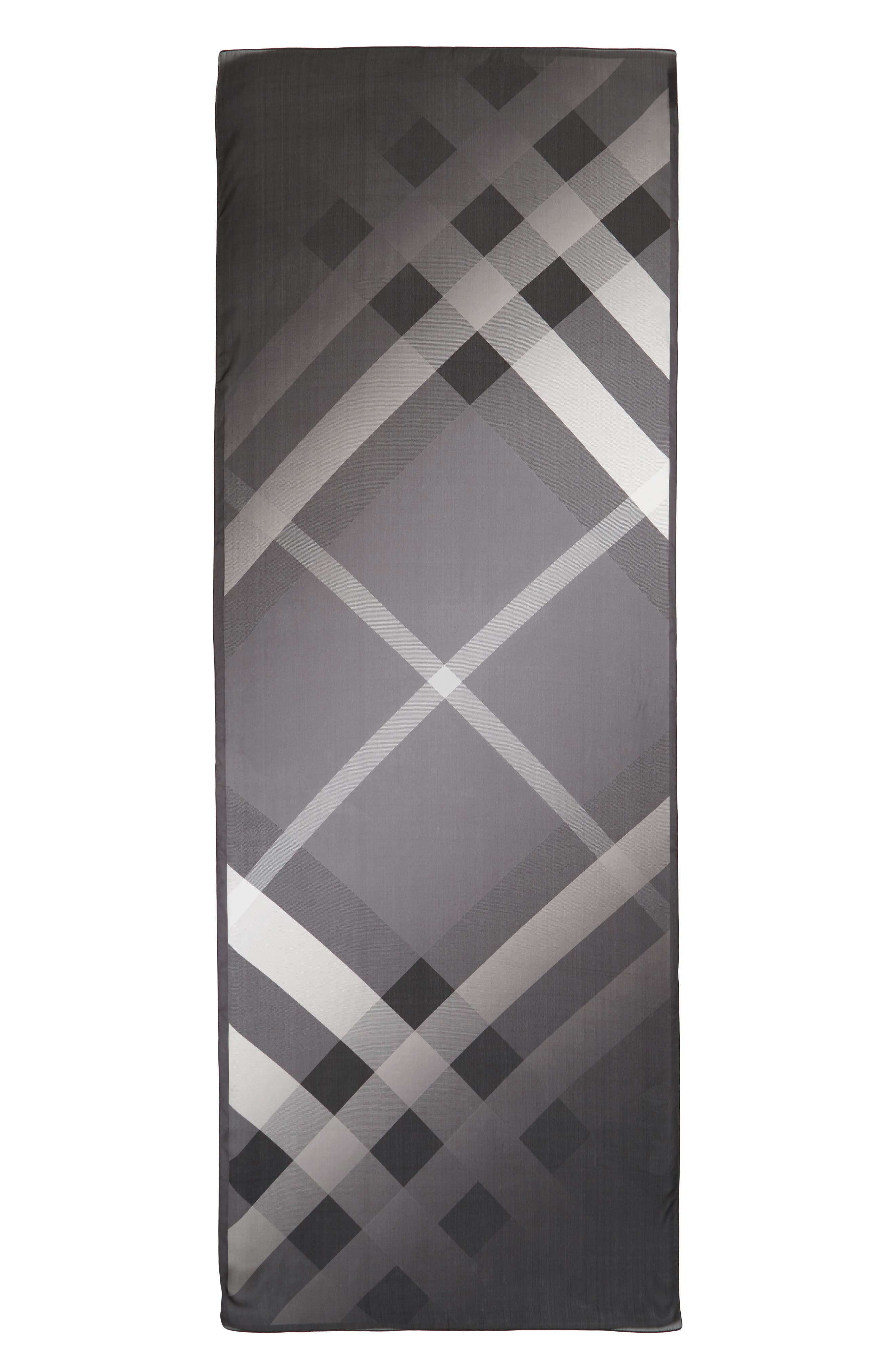 BURBERRY Ombré Check Silk Scarf