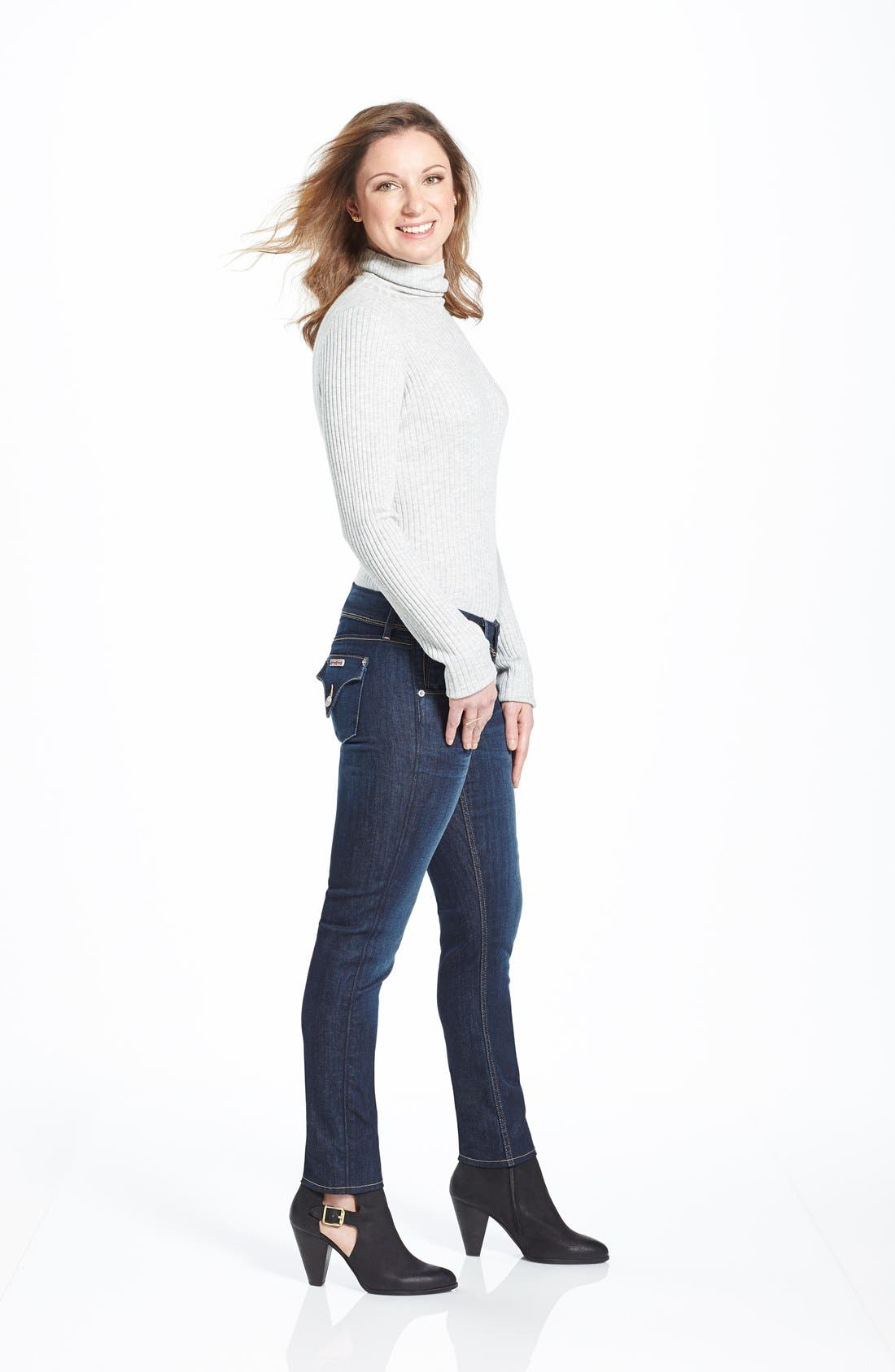 Alternate Image 7  - Hudson Jeans 'Collin' Skinny Jeans (Stella)