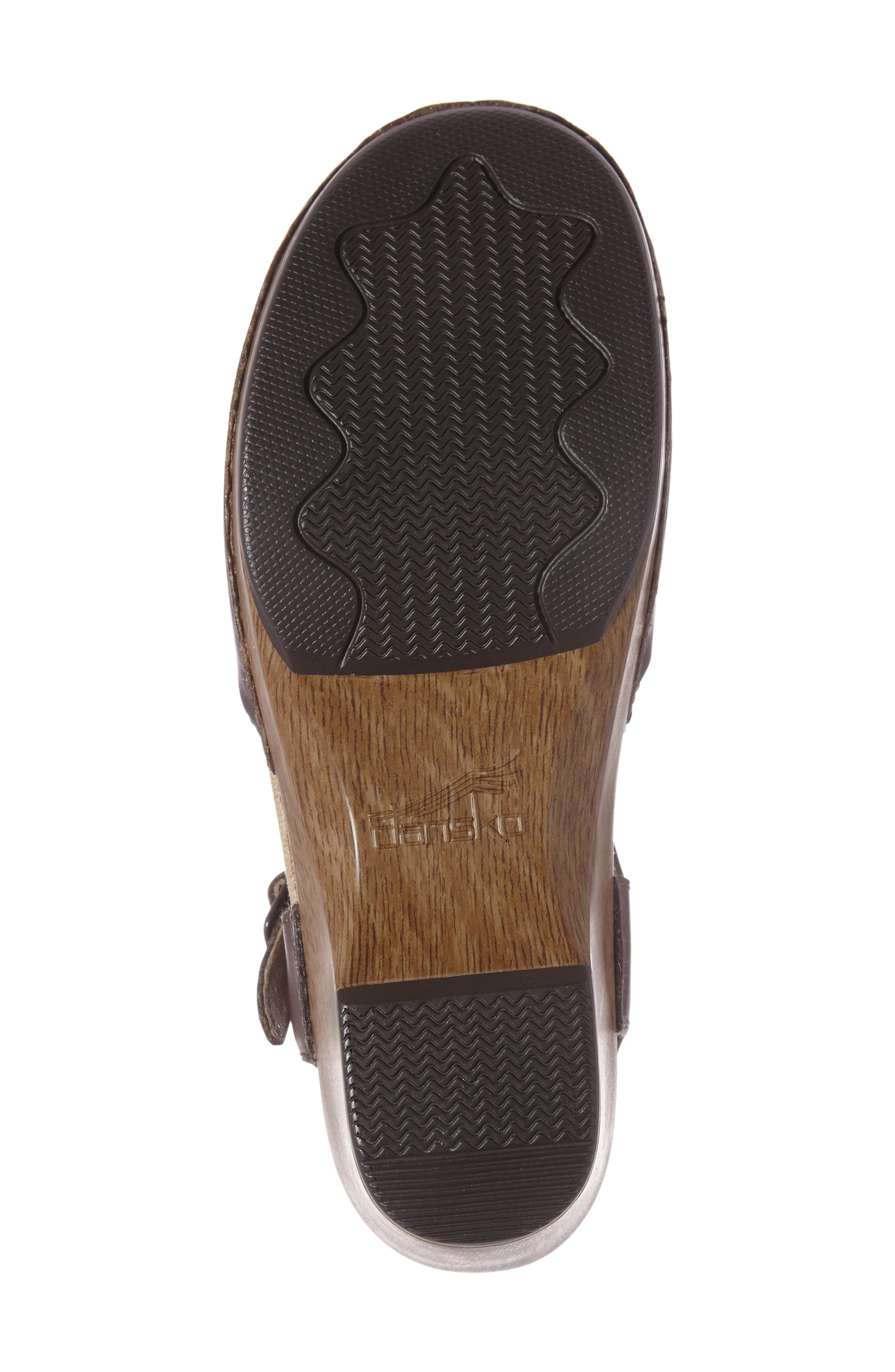 'Sam' Clog,                             Alternate thumbnail 4, color,                             Teak Vintage Leather