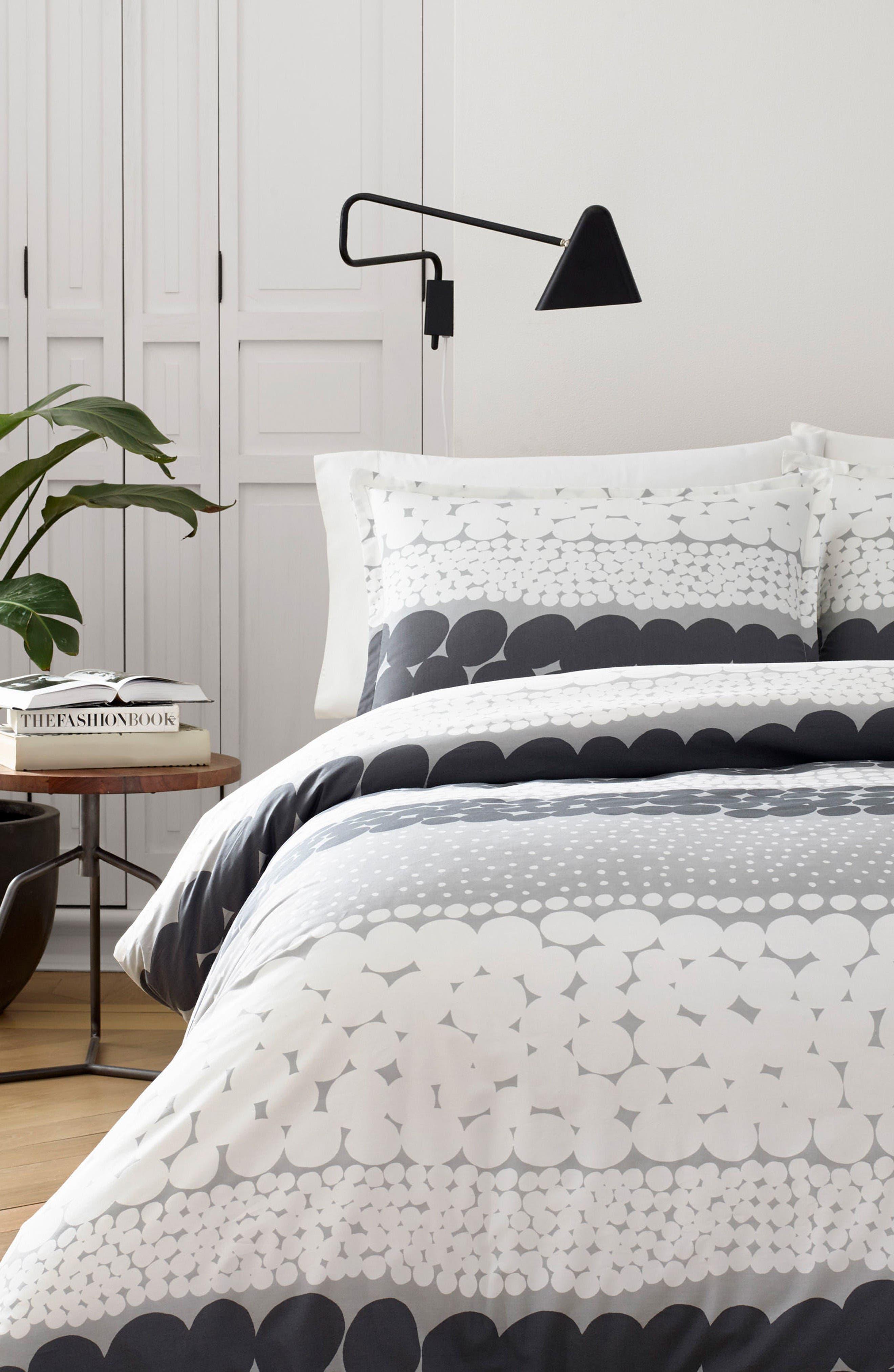 Jurmo Comforter & Sham Set,                         Main,                         color, Dark Grey