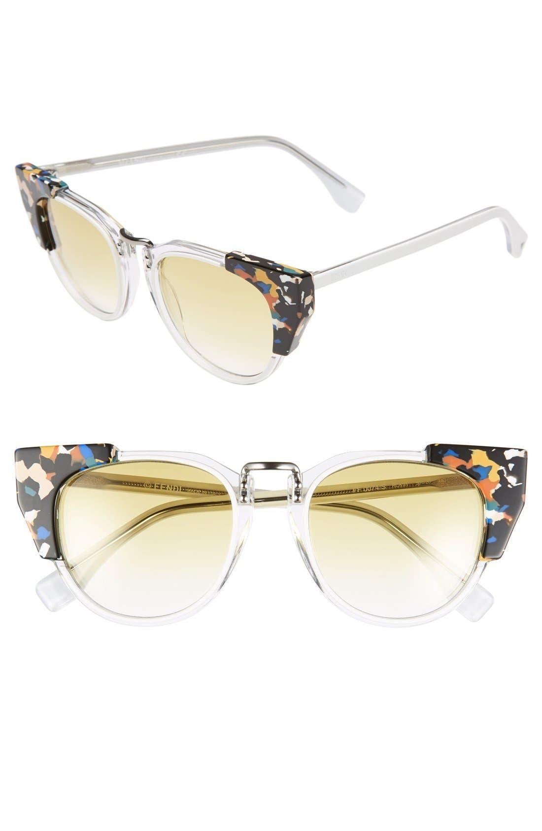Main Image - Fendi 'Fashion Show' 50mm Sunglasses