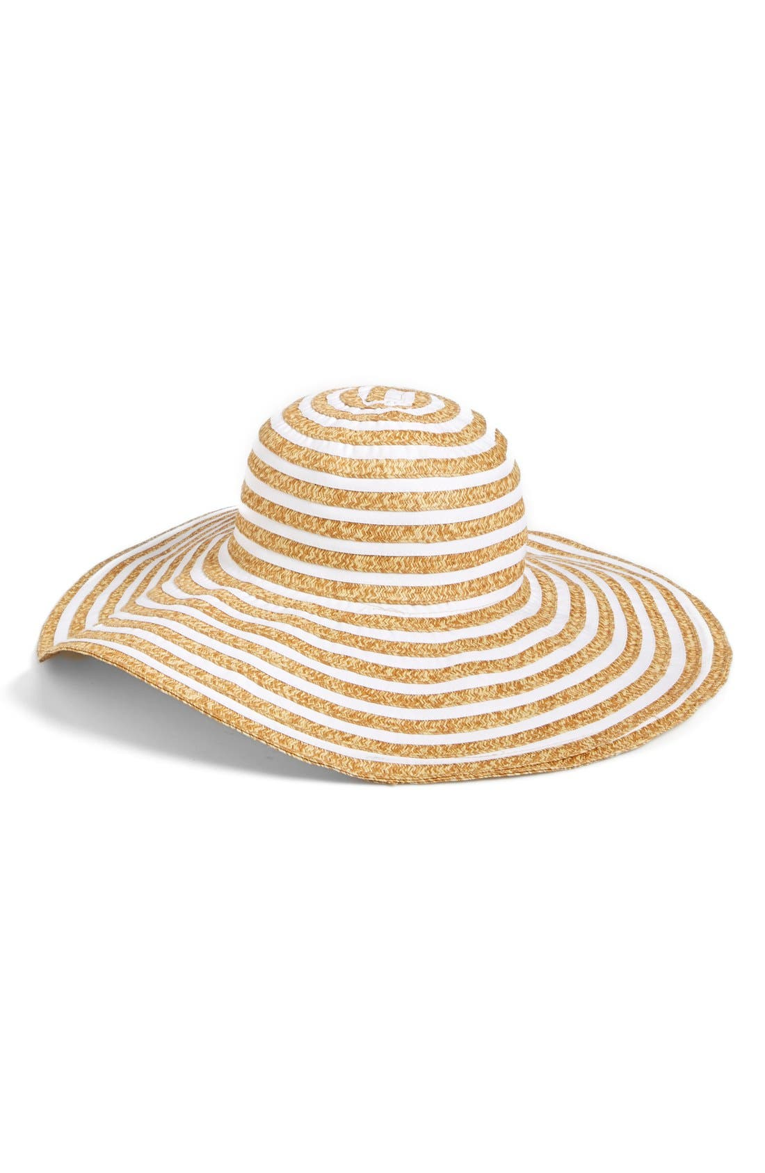 Main Image - August Hat 'Mix It Up' Floppy Straw Hat