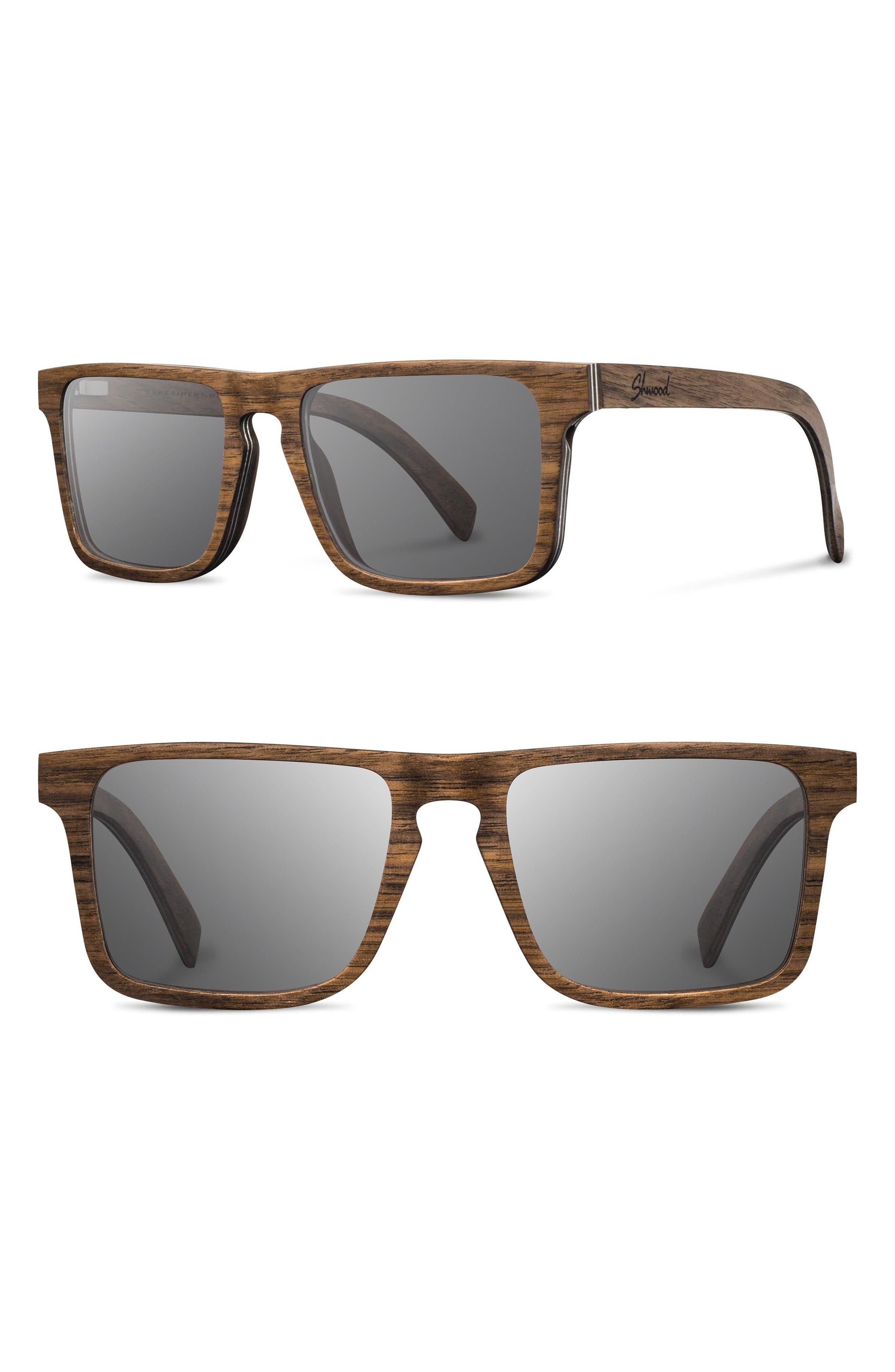 SHWOOD Govy 2 52mm Polarized Wood Sunglasses