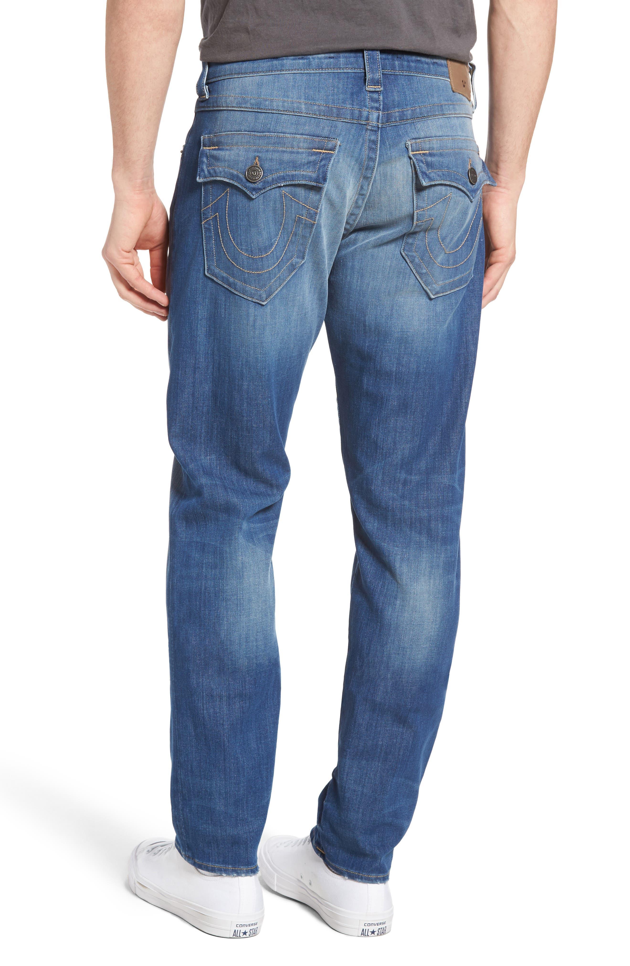 Alternate Image 2  - True Religion Brand Jeans Geno Straight Leg Jeans (Sun Faded)